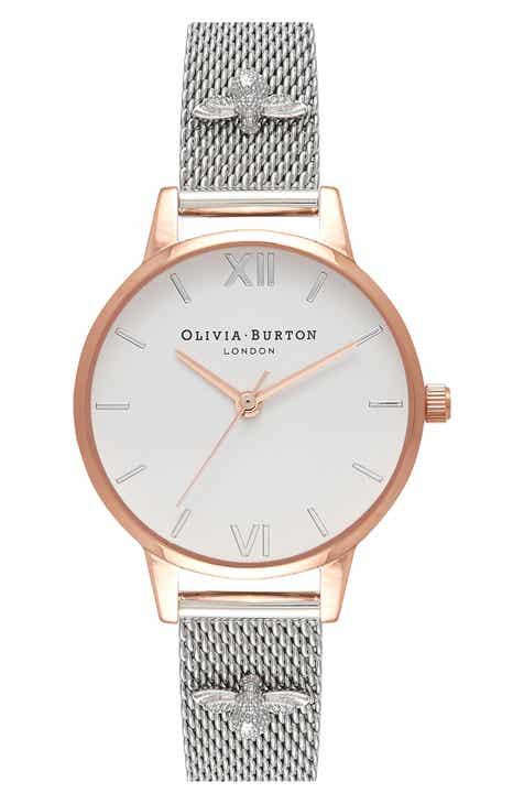 abea066171e0 Olivia Burton 3D Bee Mesh Strap Watch