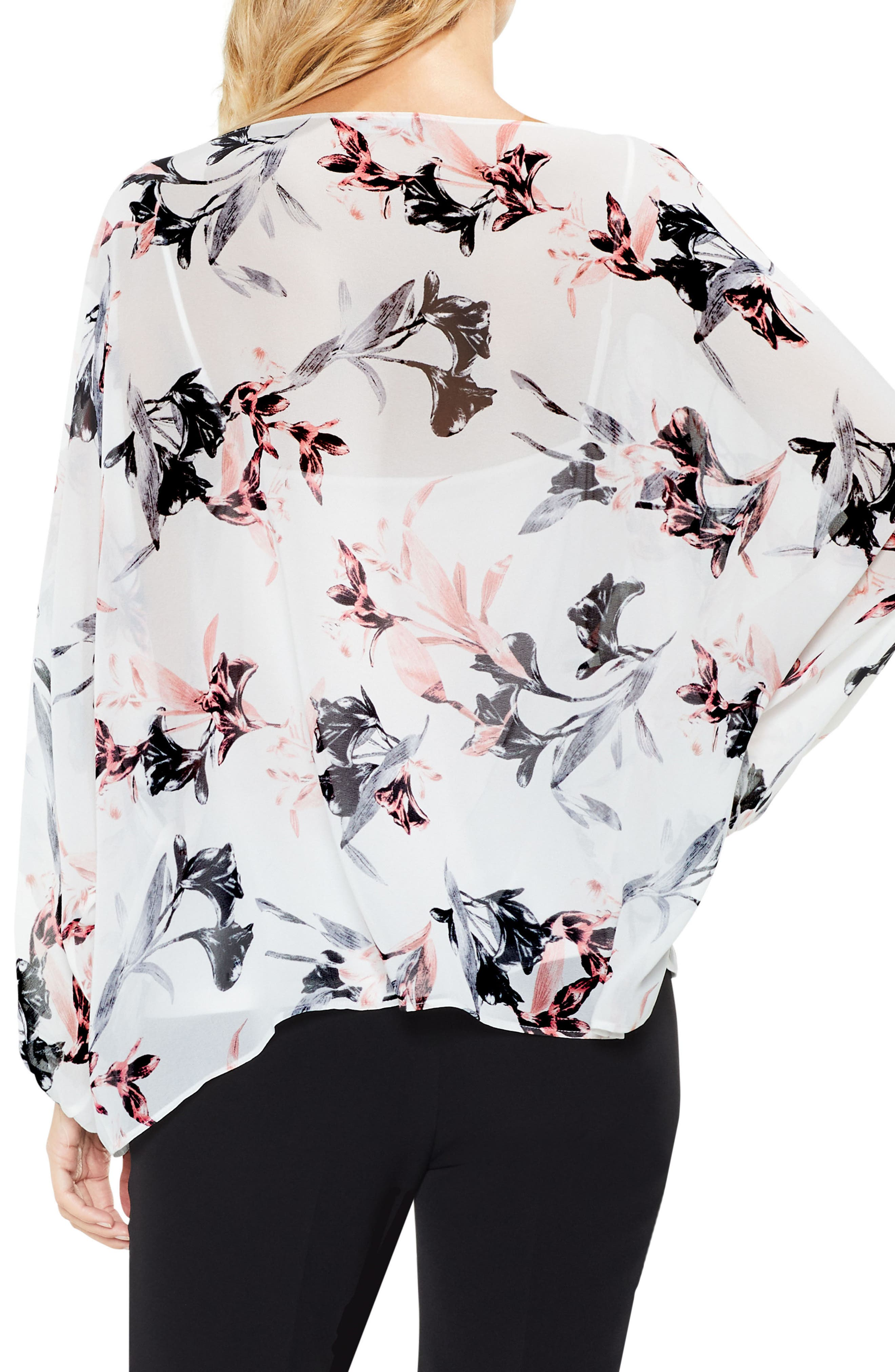 Alternate Image 2  - Vince Camuto Lily Melody Blosuson Sleeve Top