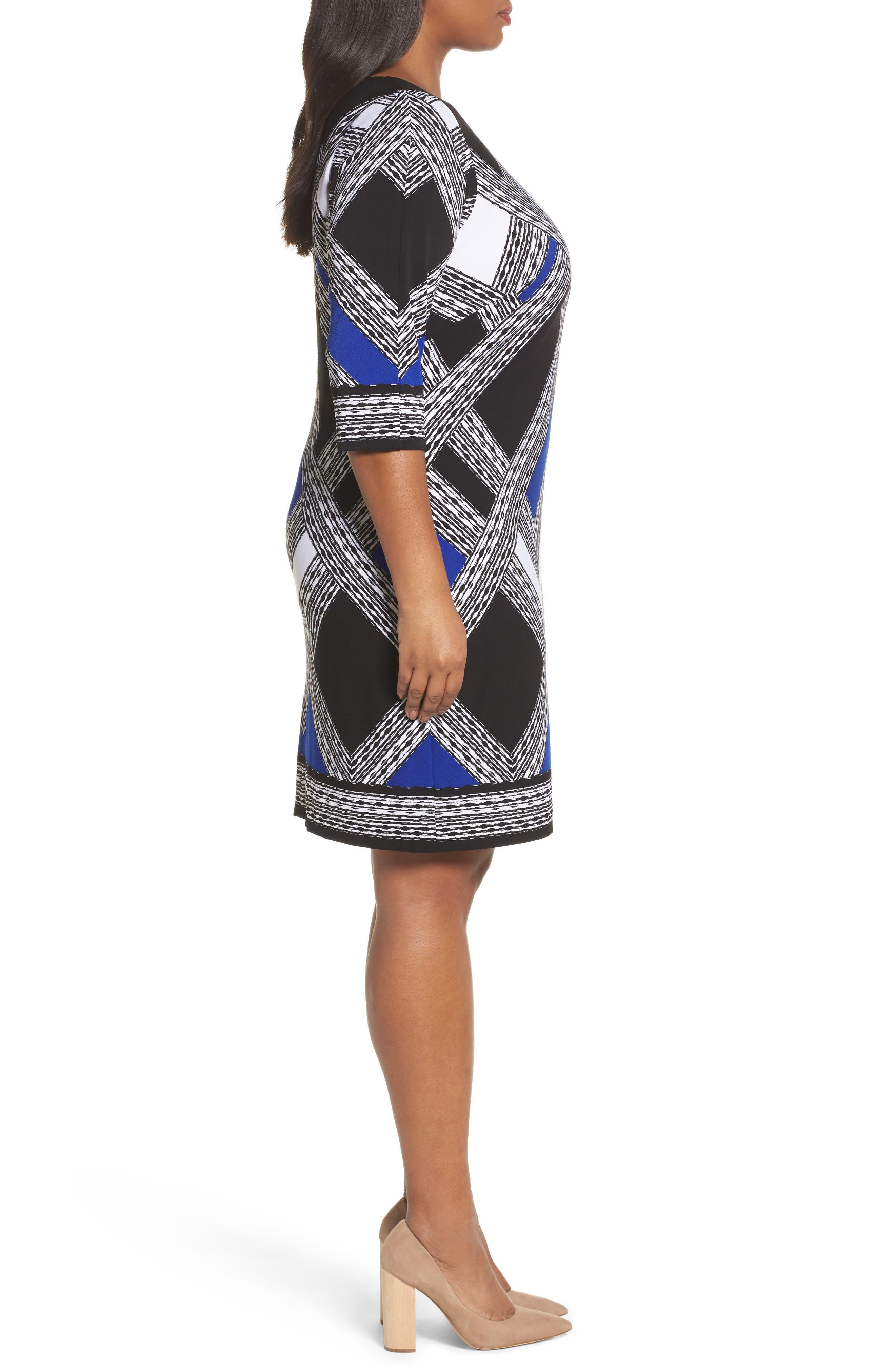 Alternate Image 3  - Vince Camuto Geo Print Shift Dress (Plus Size)
