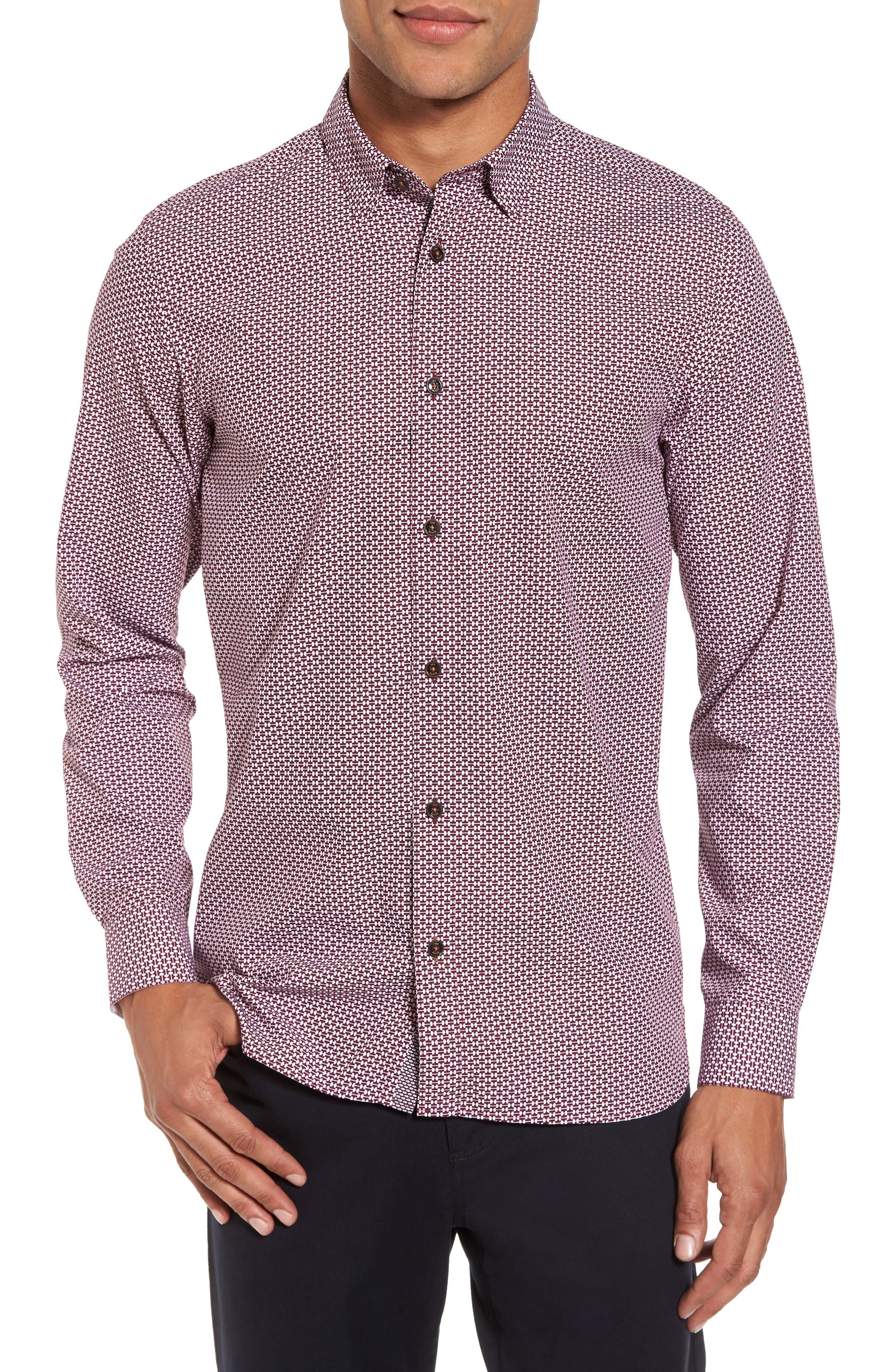 Ted Baker London Kolma Slim Fit Core Print Shirt