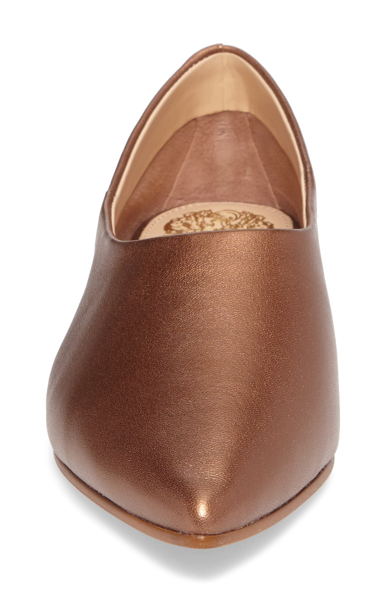 Stanta Pointy Toe Flat,                             Alternate thumbnail 4, color,                             Penny Leather