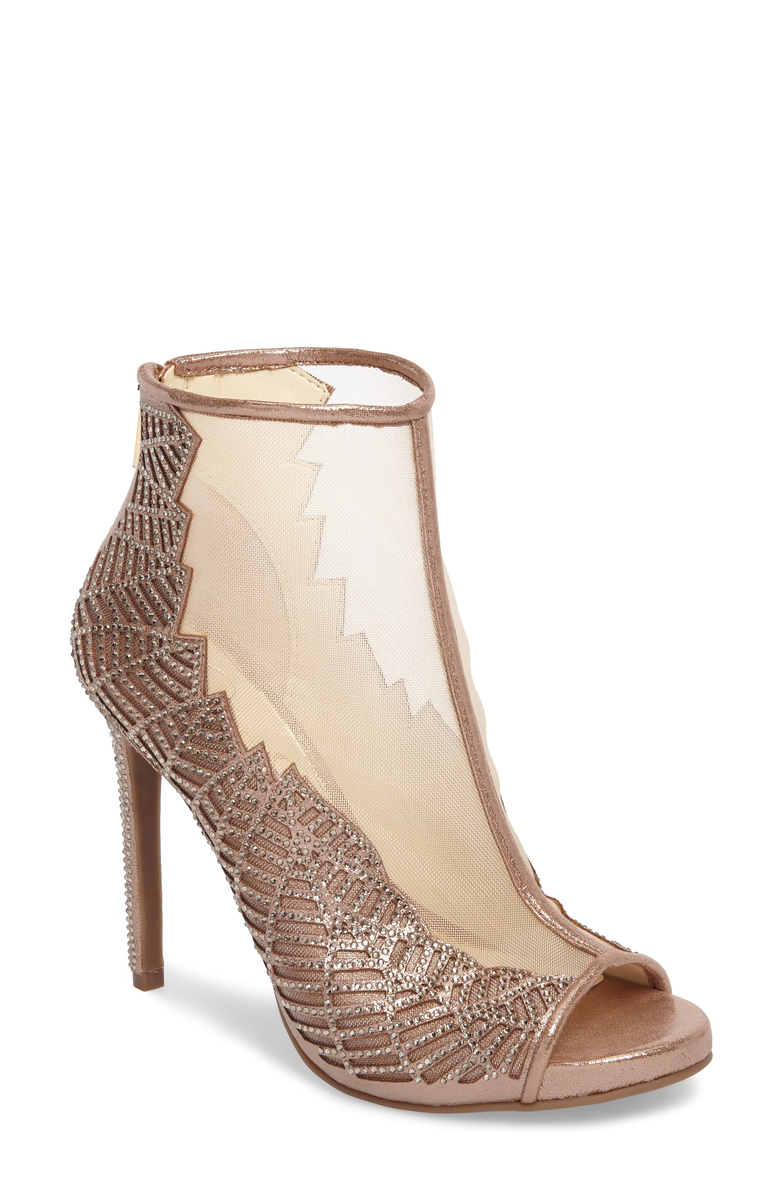 Radko Embellished Sandal,                         Main,                         color, Light Sheer Mesh