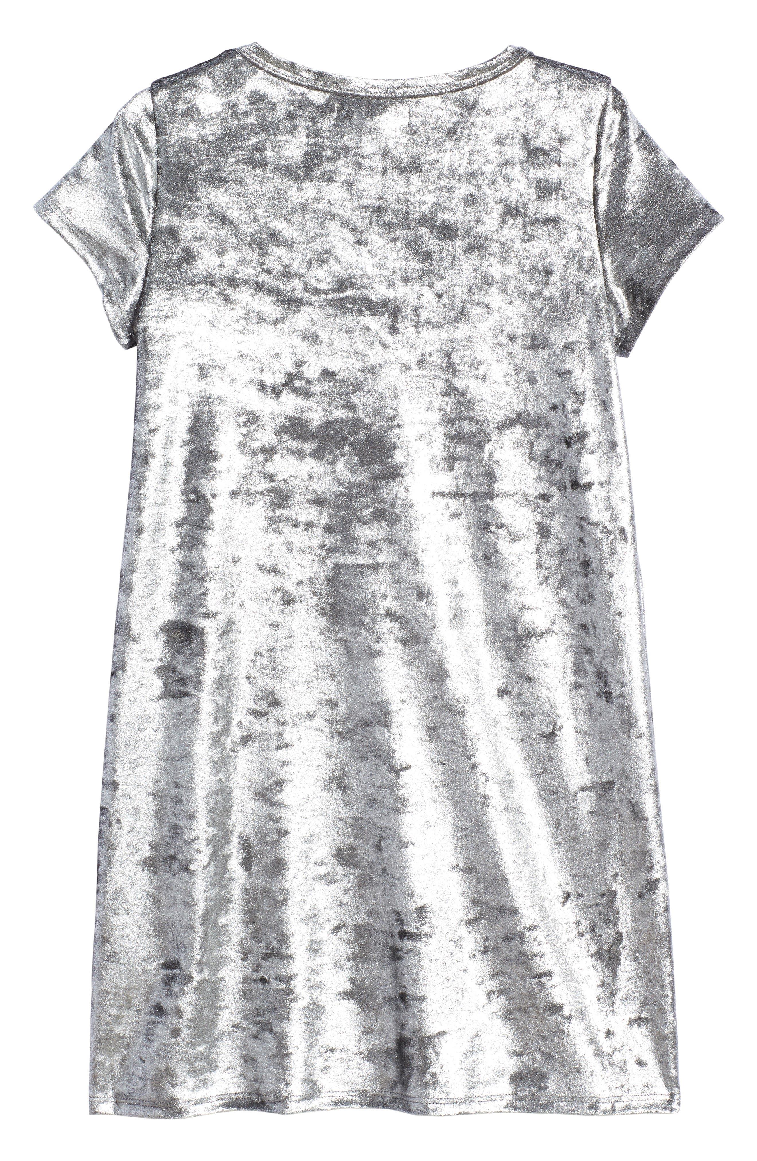 Alternate Image 2  - Tucker + Tate Metallic Velour Sneaker Dress (Toddler Girls, Little Girls & Big Girls)
