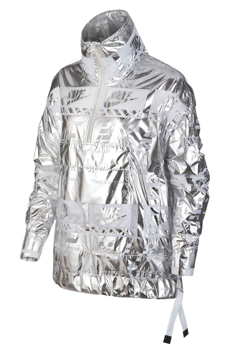 Sportswear Metallic Half Zip Jacket