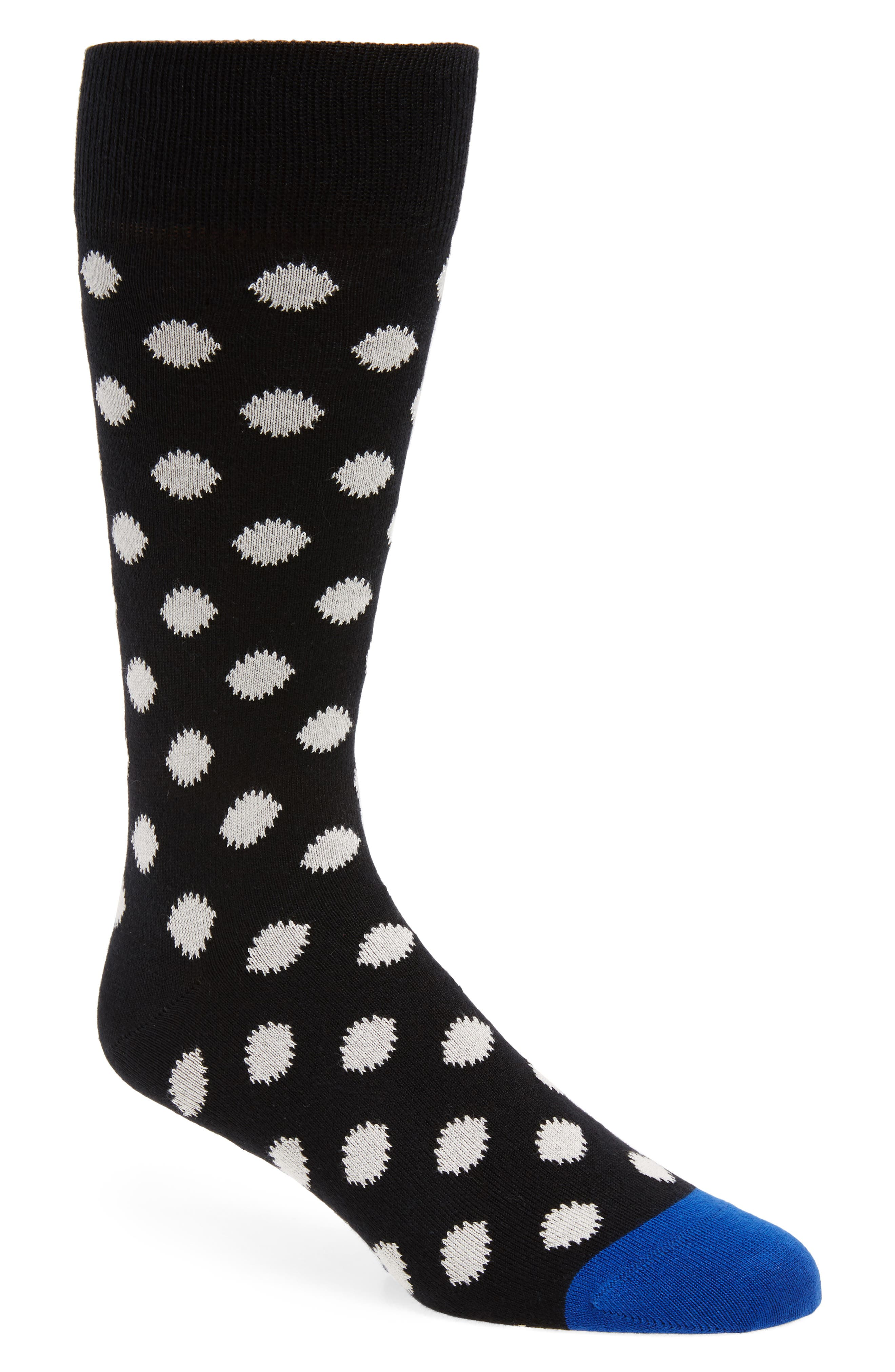 Supernova Dot Socks,                         Main,                         color, Black