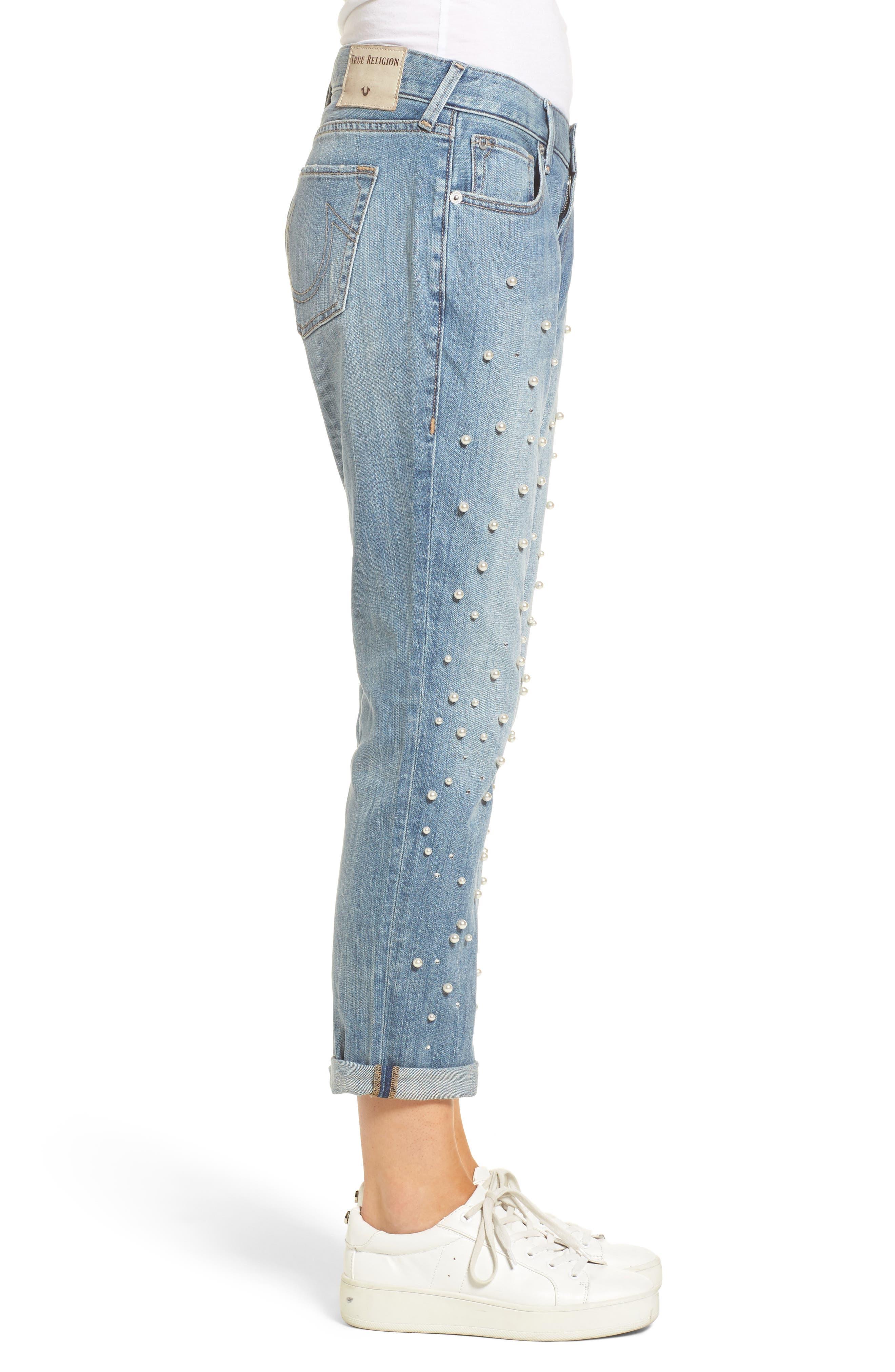 Cameron Slim Boyfriend Jeans,                             Alternate thumbnail 3, color,                             Slip Away