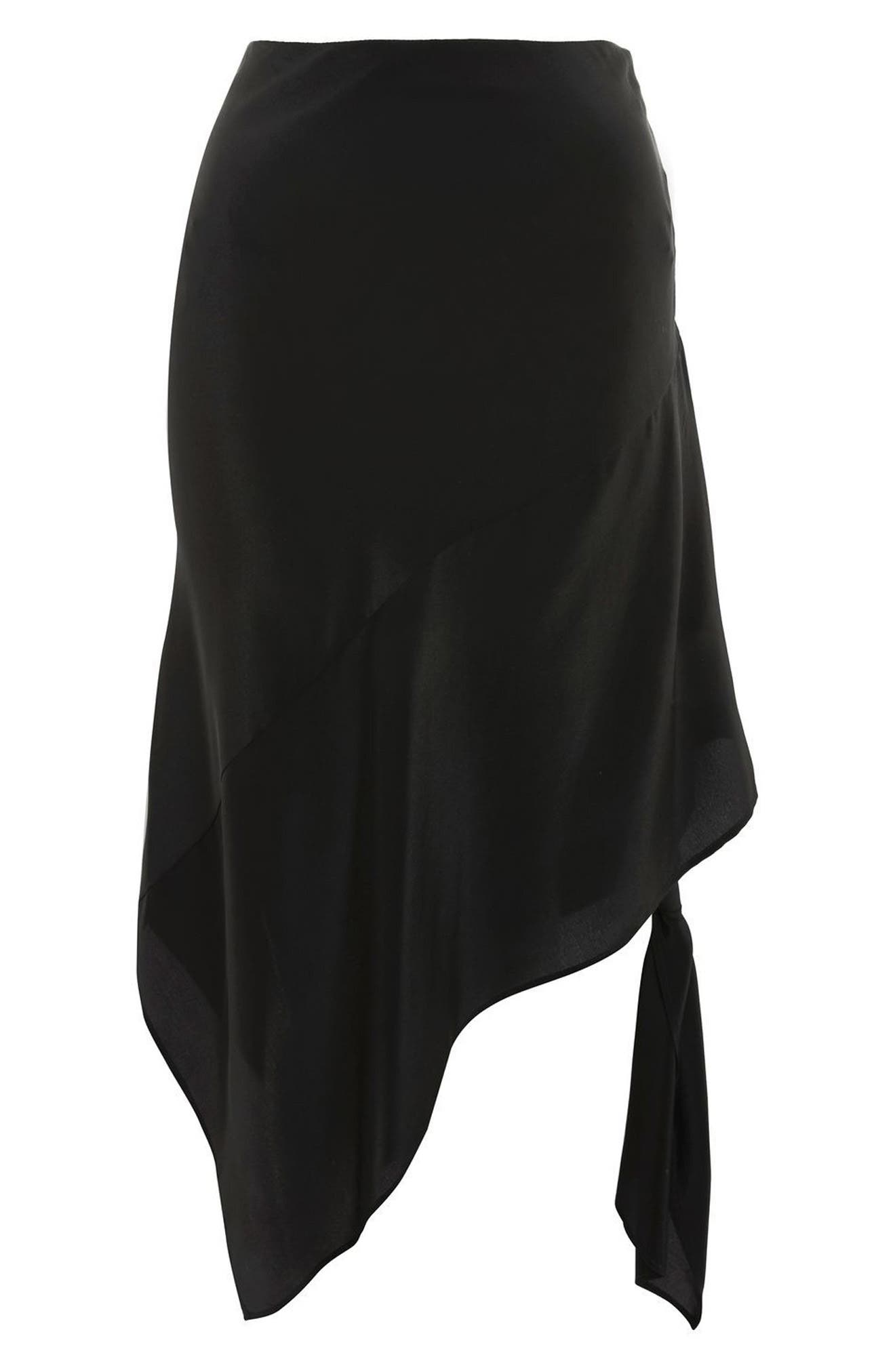 Topshop Boutique Silk Knot Side Skirt