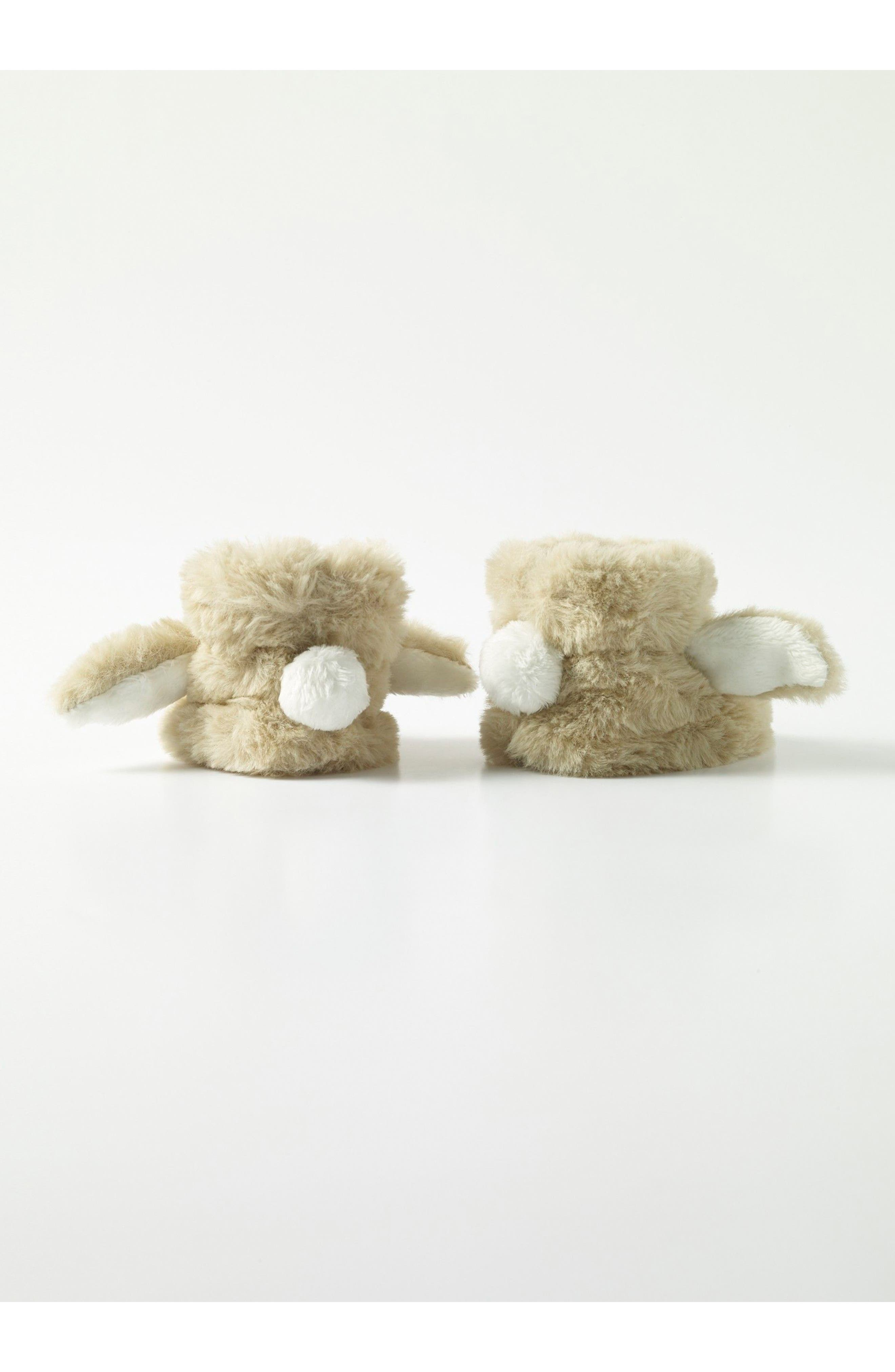 Mini Boden Bunny Faux Fur Booties (Baby)