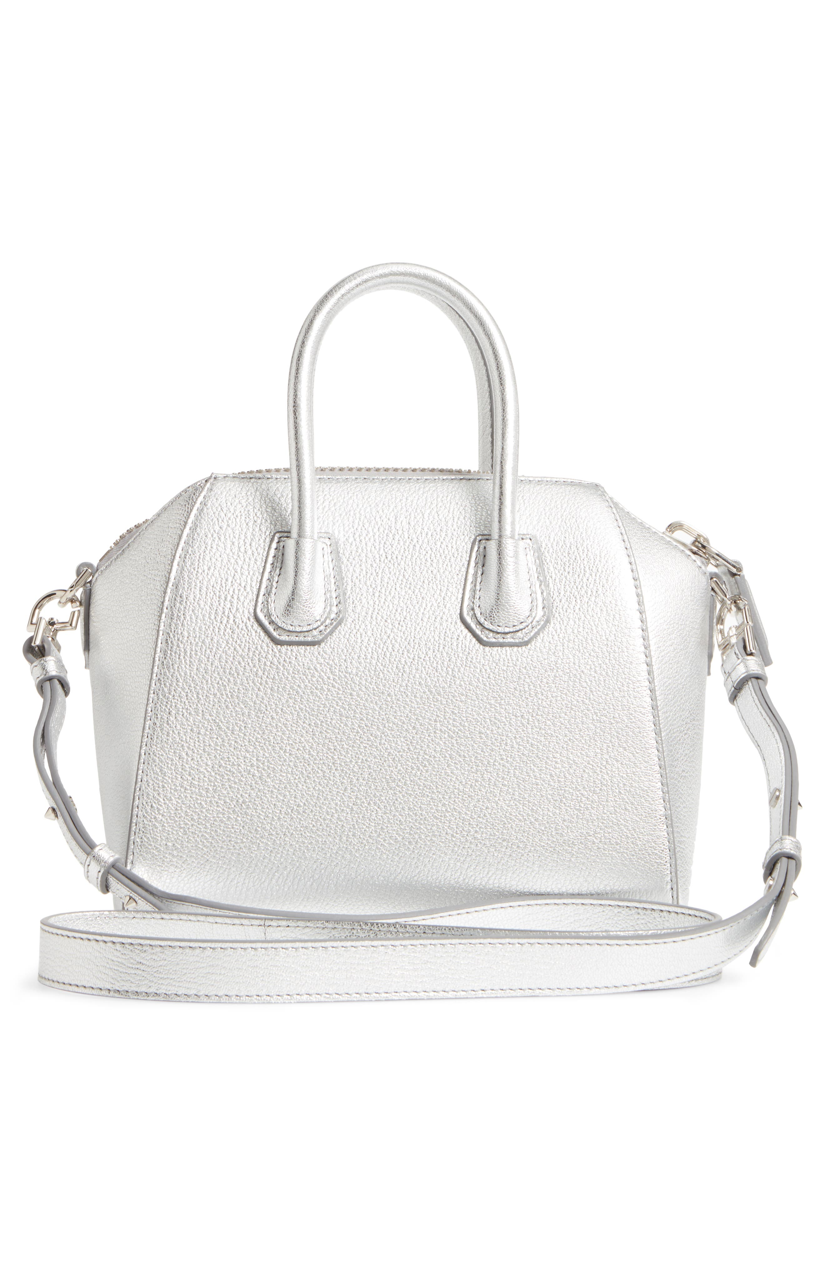 Alternate Image 2  - Givenchy Mini Antigona Metallic Leather Satchel