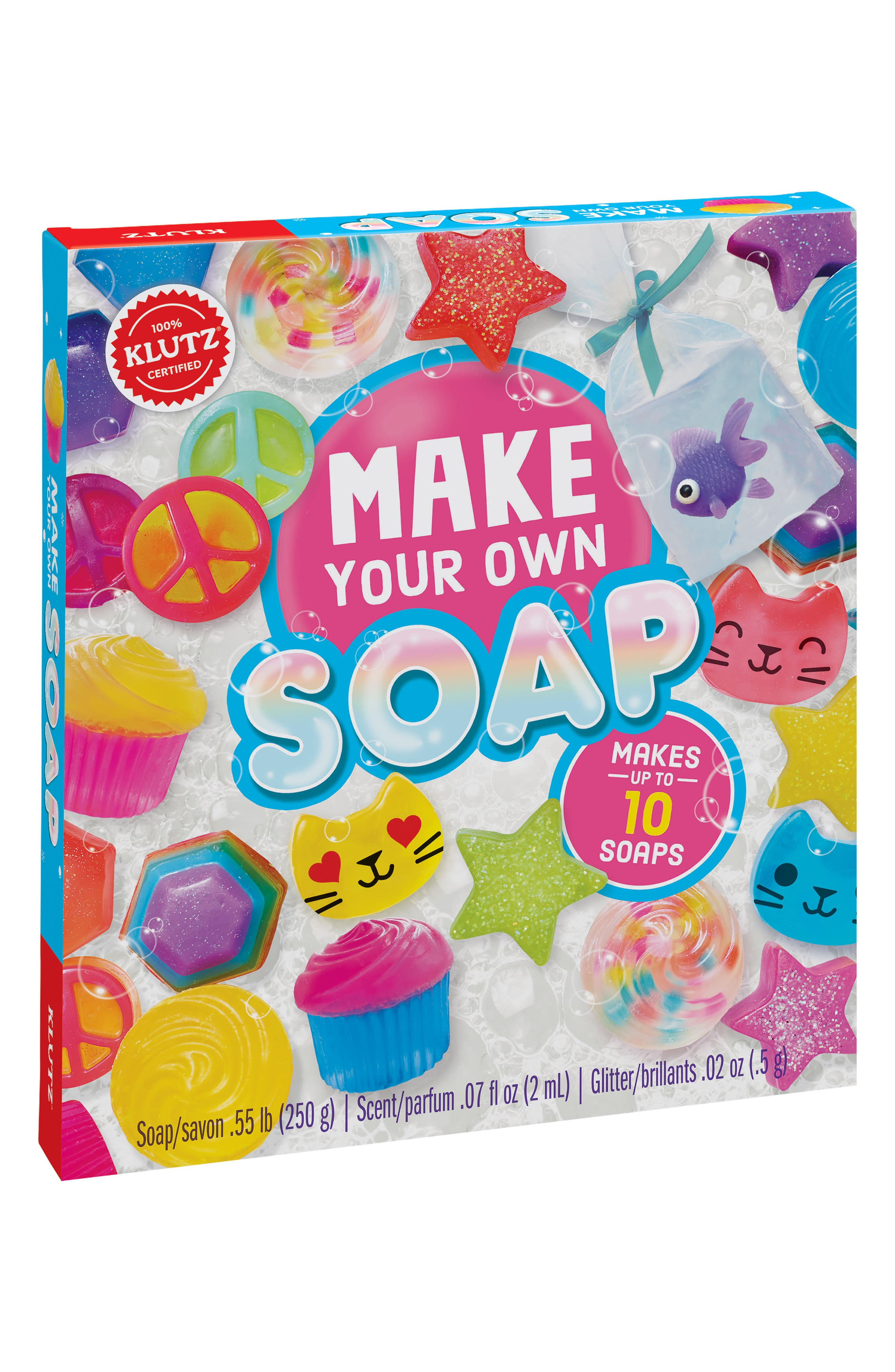 Klutz Make Your Own Soap Kit,                             Main thumbnail 1, color,                             Pink