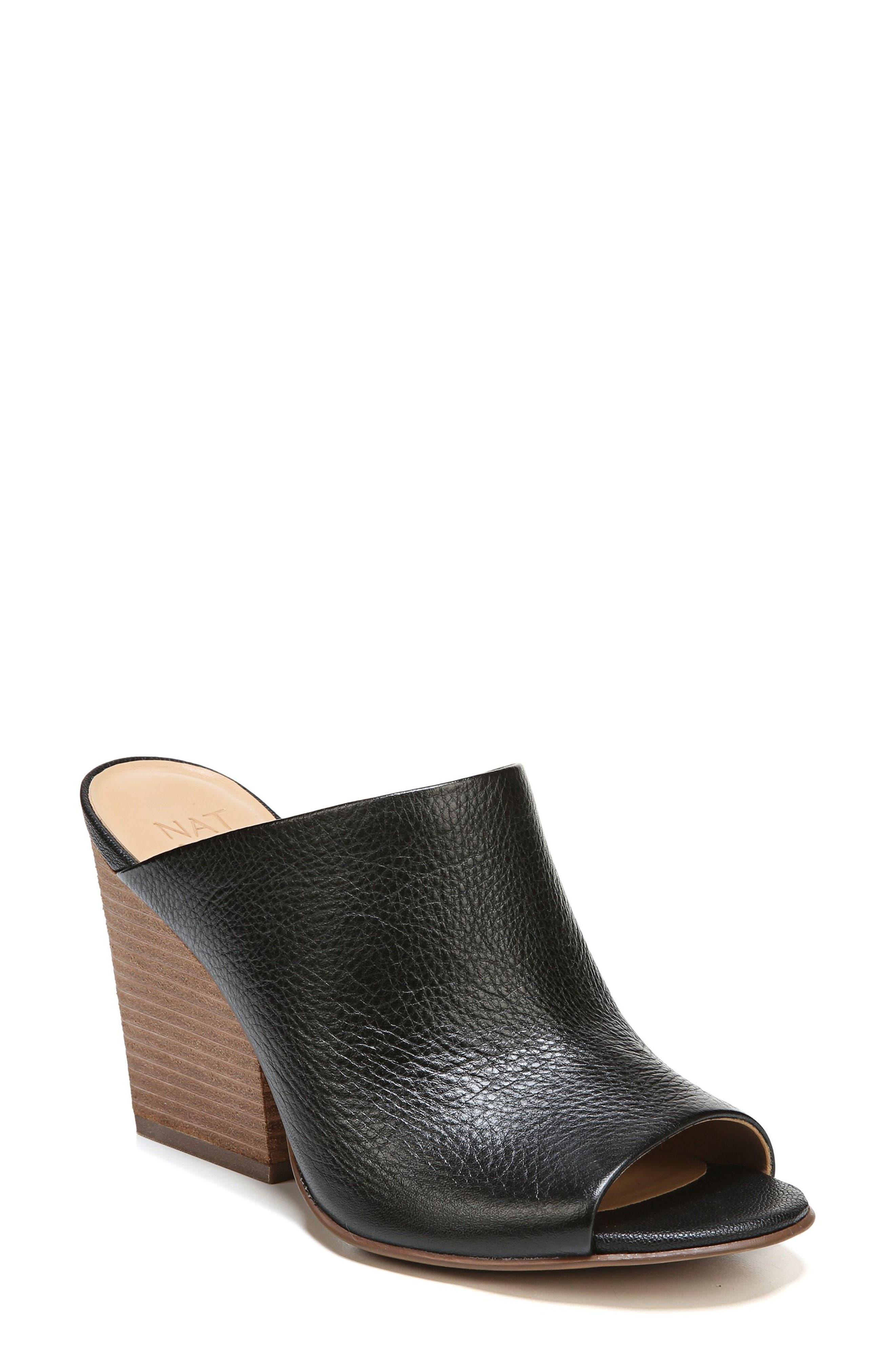 Sloan Sandal,                         Main,                         color, Black Pebbled Leather