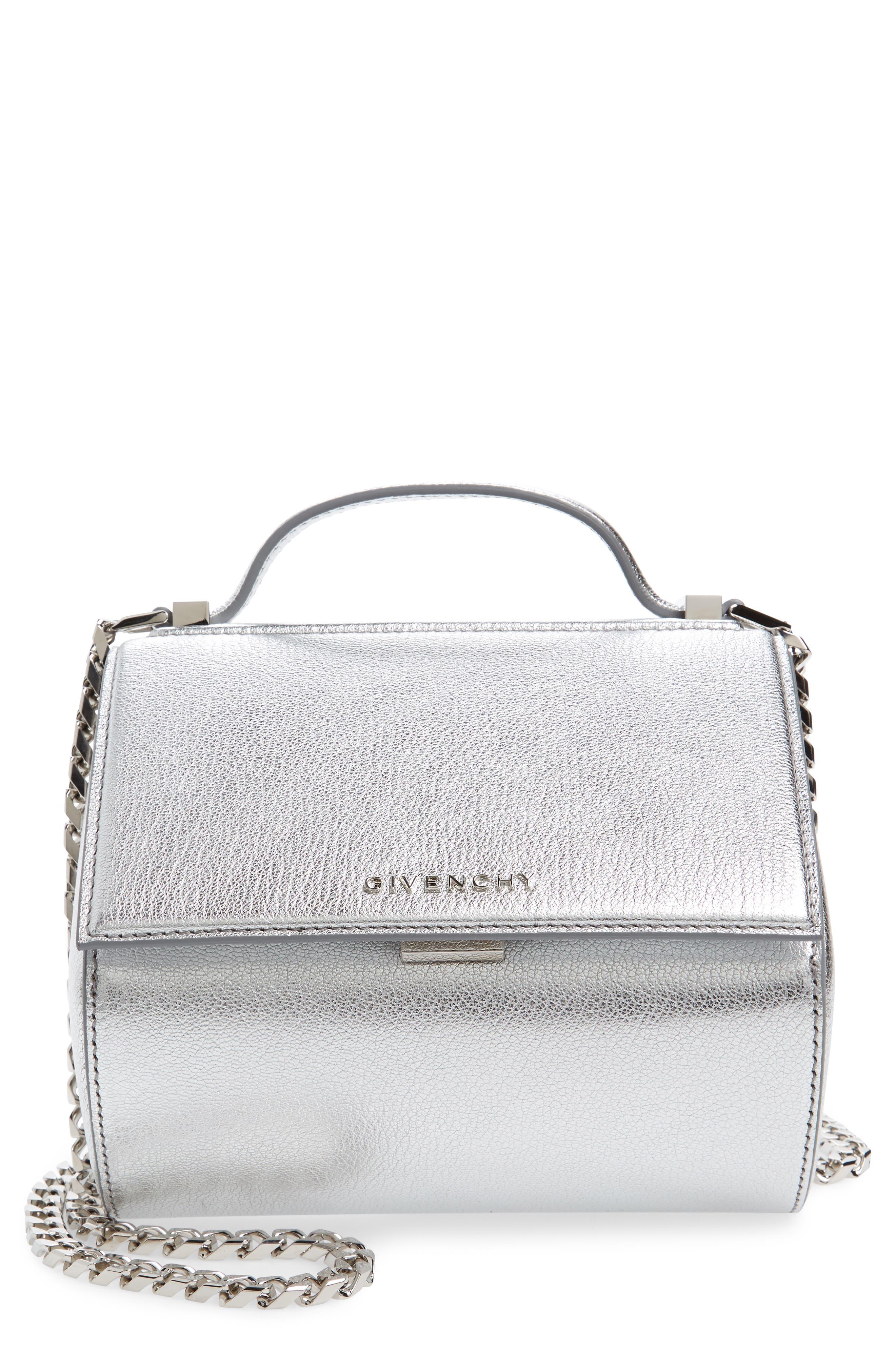 Main Image - Givenchy Pandora Metallic Leather Satchel