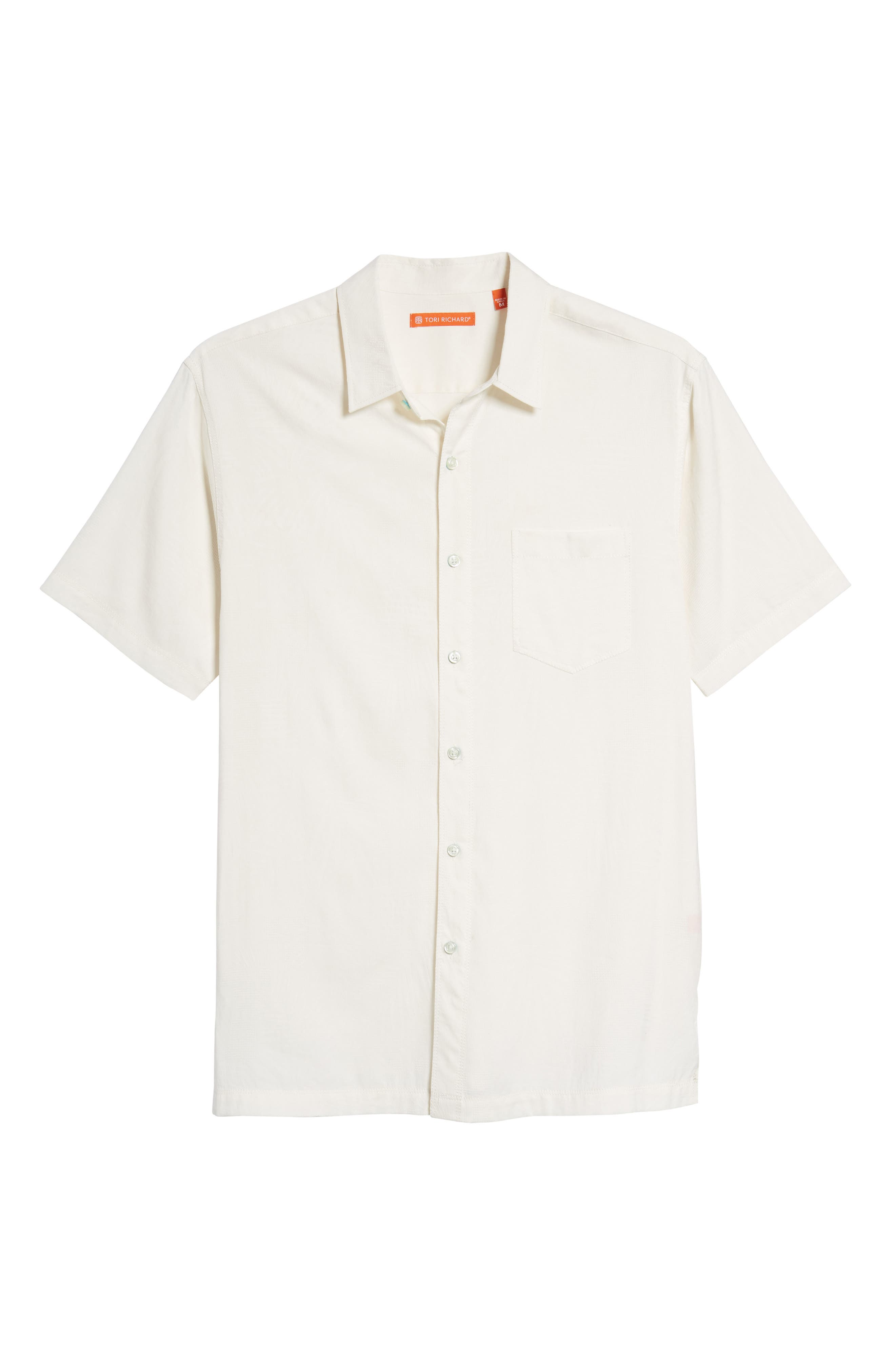 Milagro Classic Fit Sport Shirt,                             Alternate thumbnail 6, color,                             Eggshell