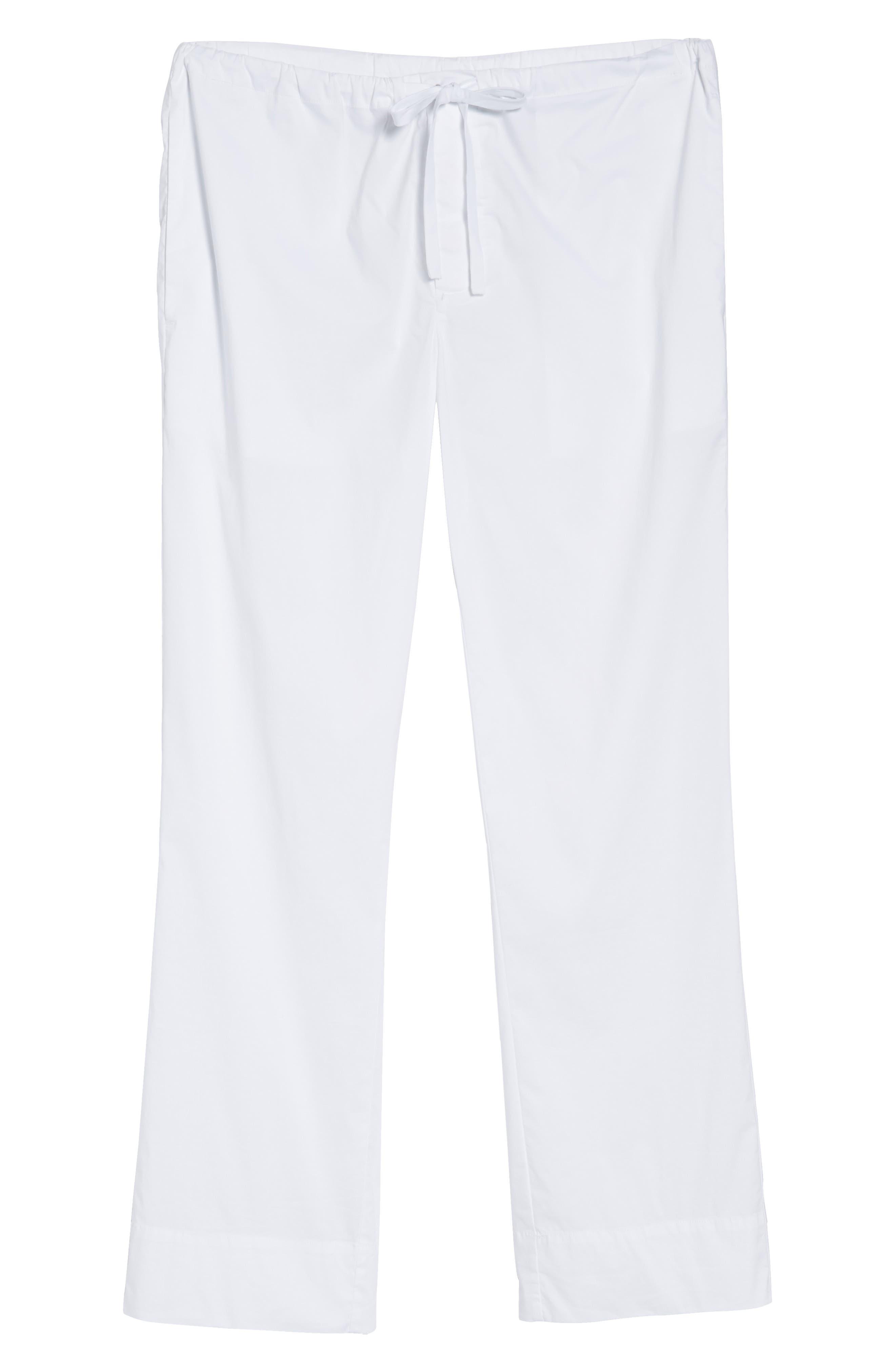 Drawstring Waist Pants,                             Alternate thumbnail 6, color,                             White
