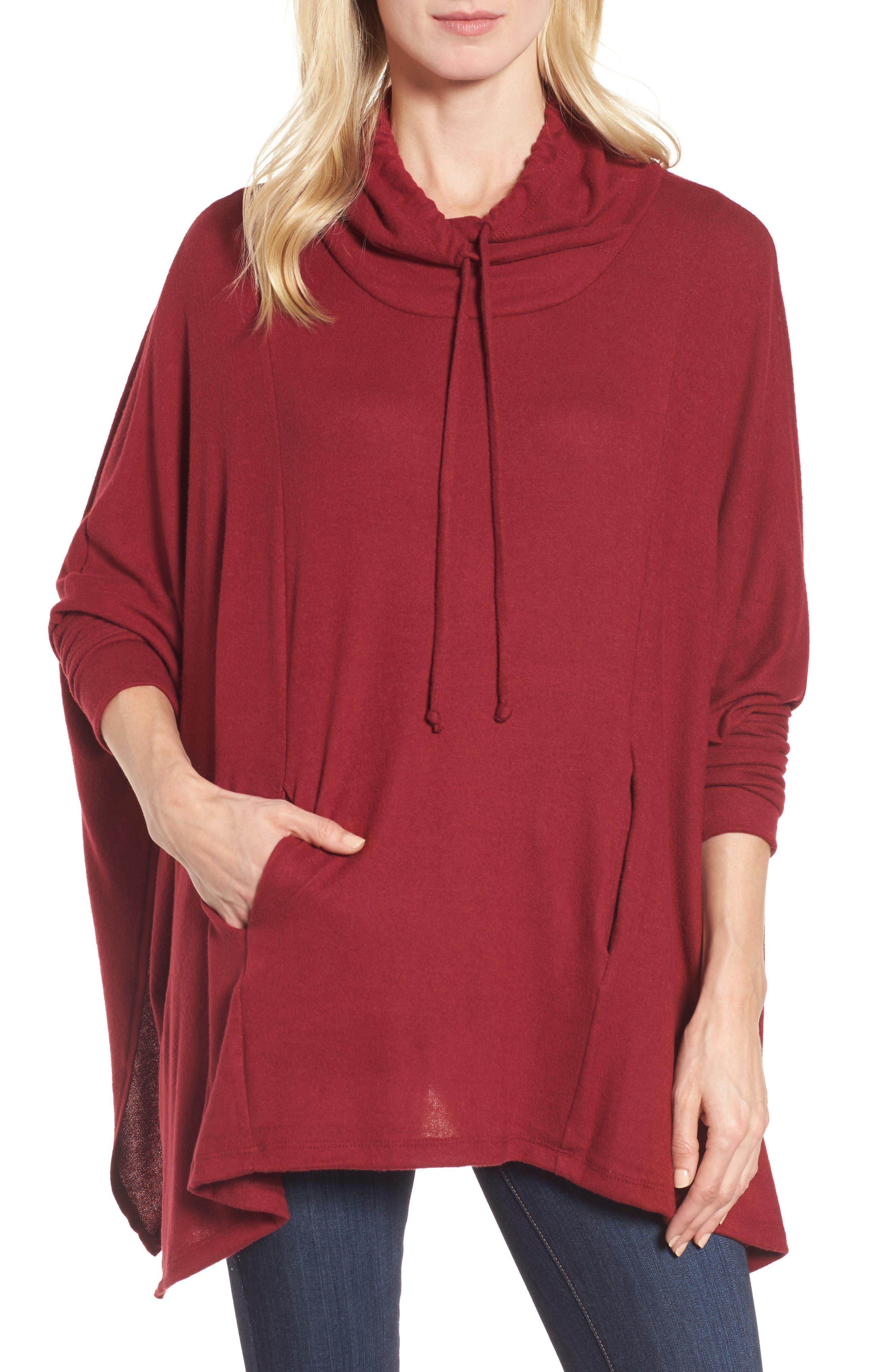 Caslon® Knit Poncho Top