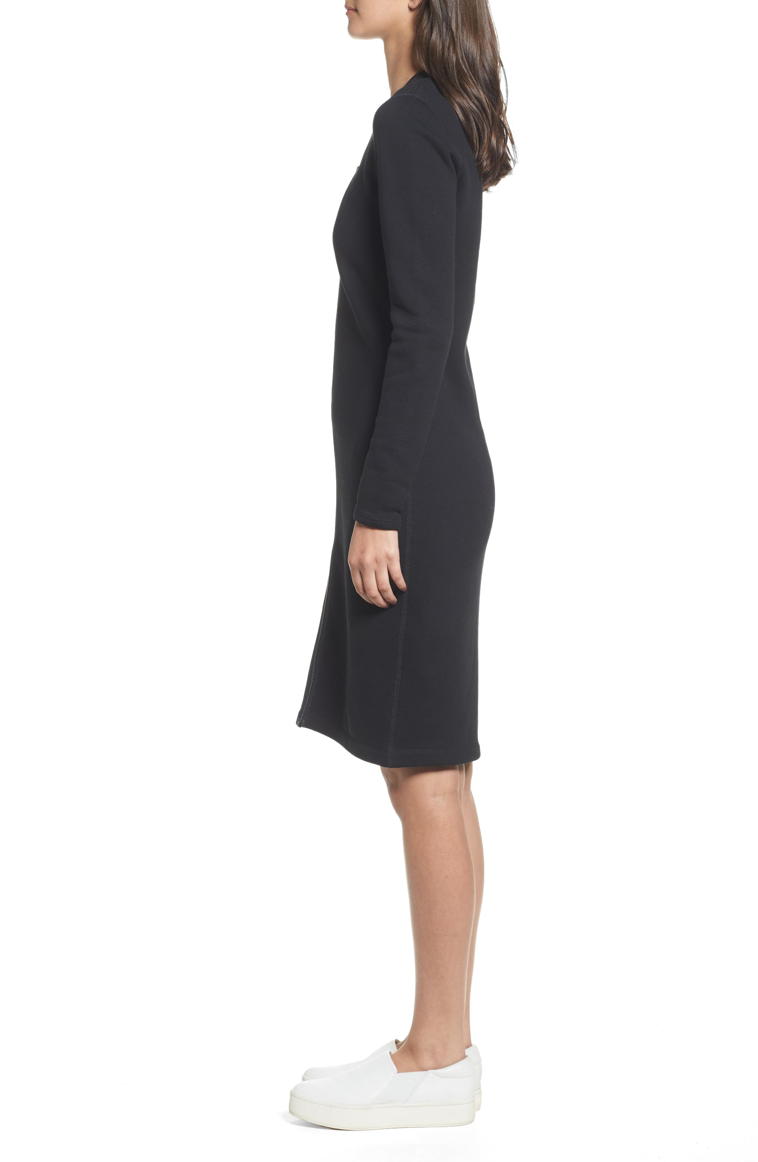Alternate Image 3  - James Perse Zip Front Scuba Dress