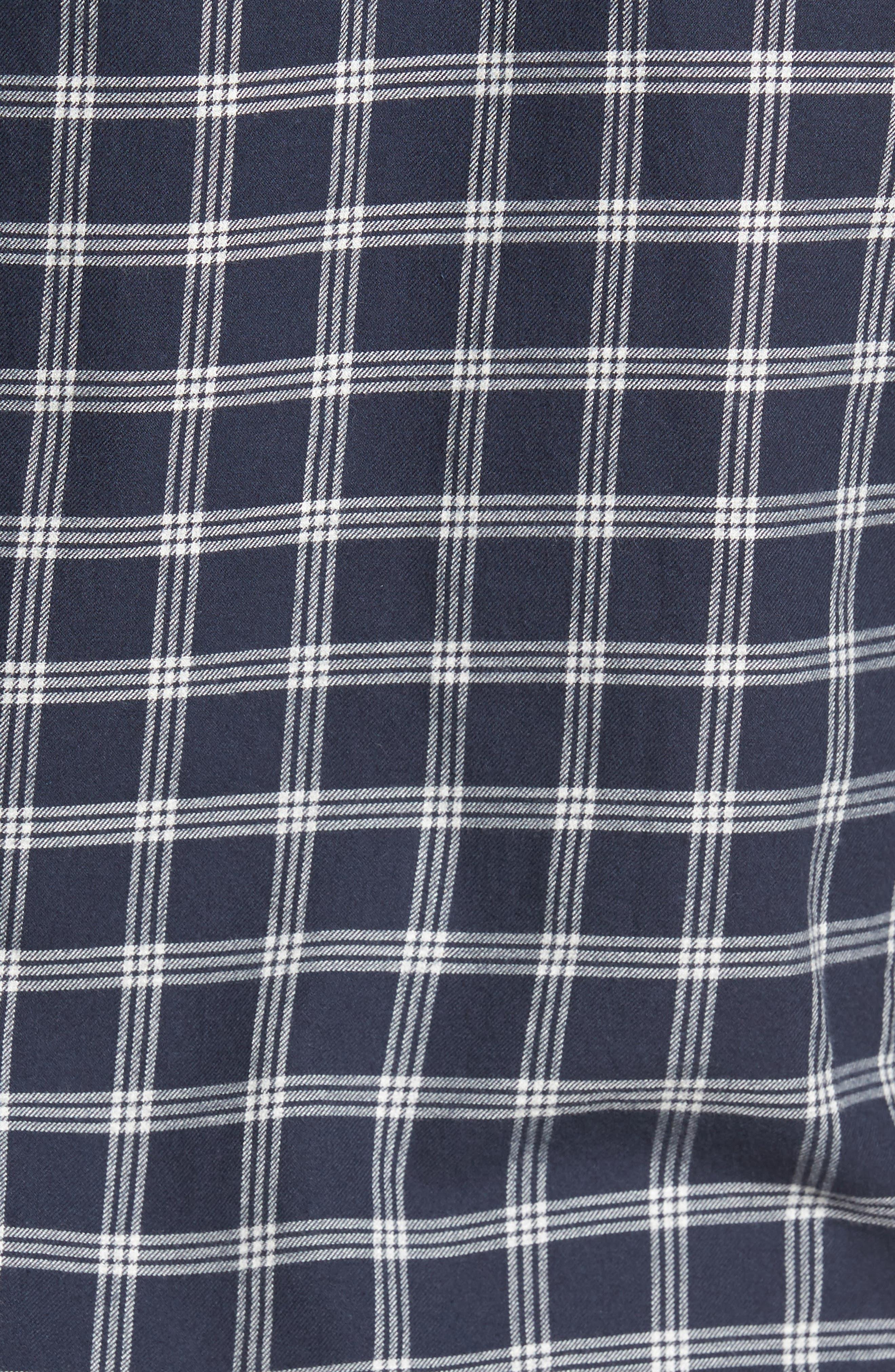 Unbutton Down Slim Fit Check Sport Shirt,                             Alternate thumbnail 5, color,                             Keene Plaid