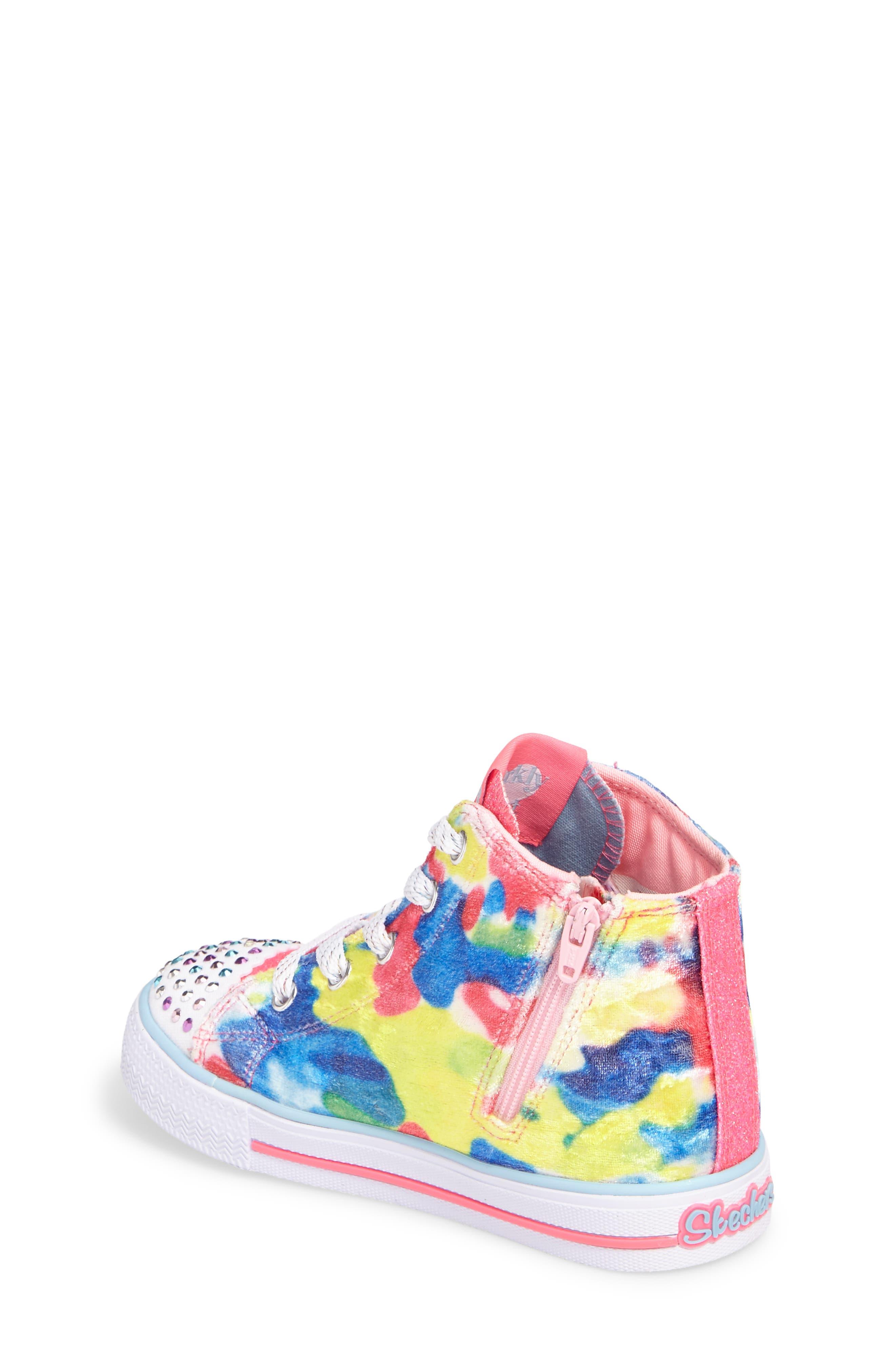 Alternate Image 2  - SKECHERS Twinkle Toes Shuffles Light-Up High Top Sneaker (Walker & Toddler)
