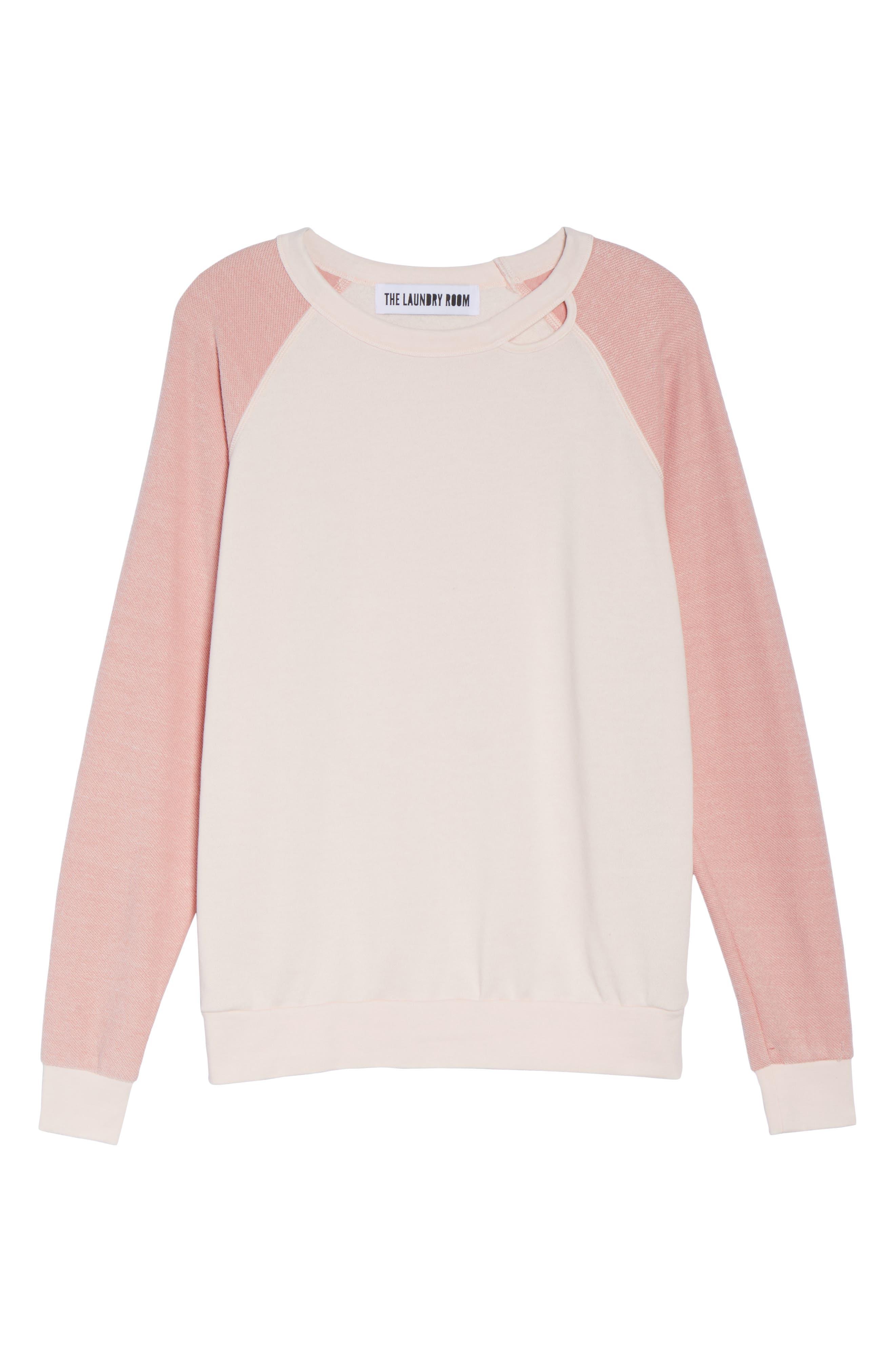 Bander Sweatshirt,                             Alternate thumbnail 4, color,                             Champagne / Shell