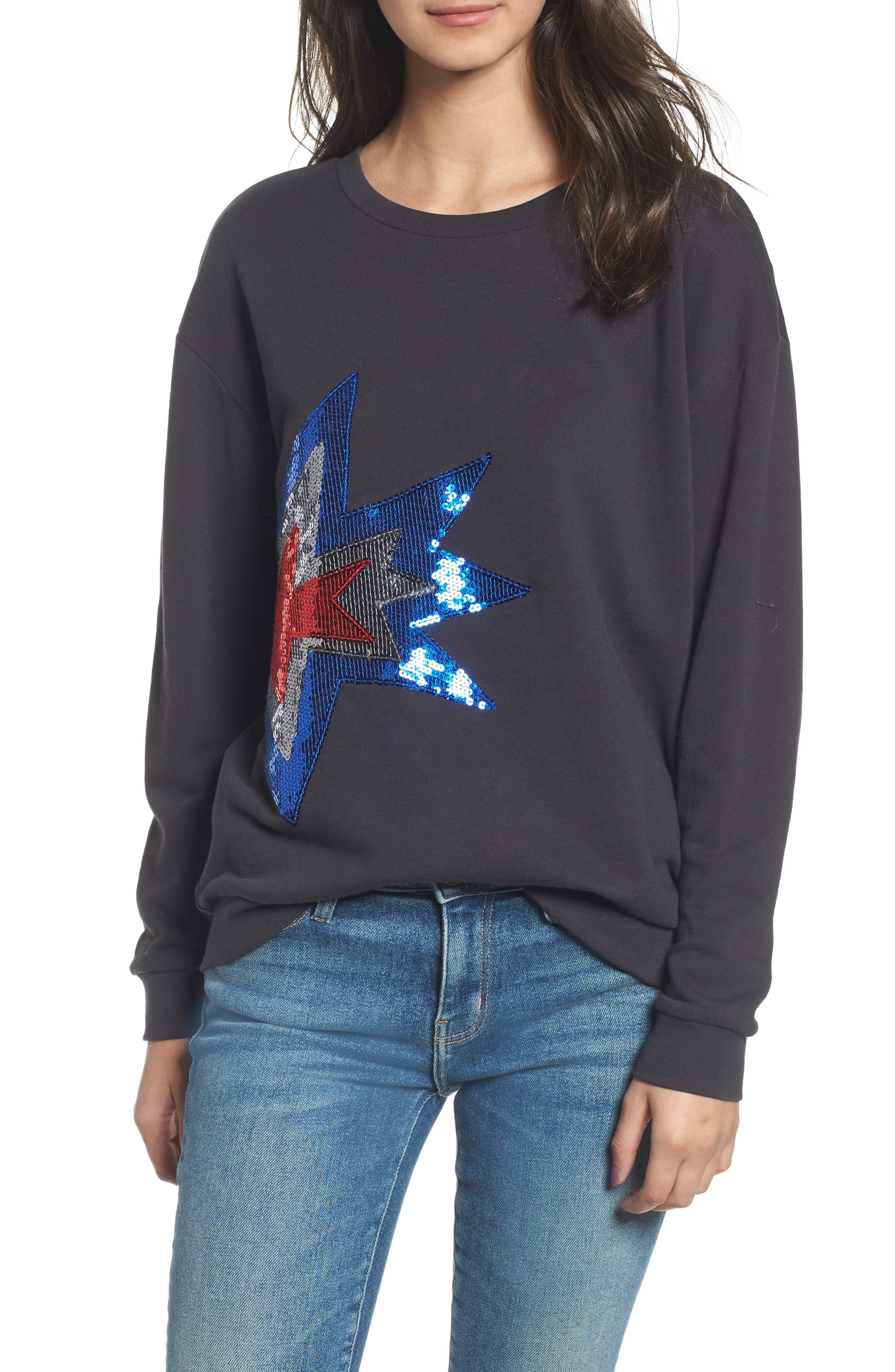 Alexa - Splash Sweatshirt,                             Main thumbnail 1, color,                             Black