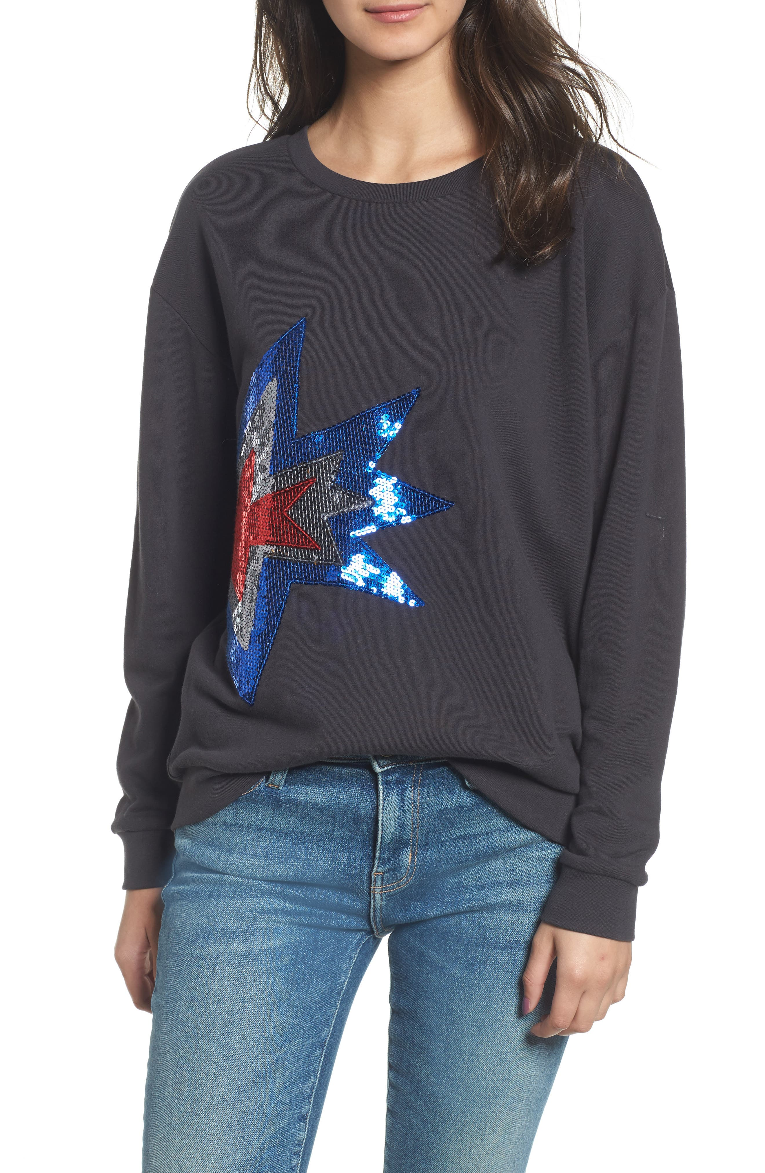 Alexa - Splash Sweatshirt,                         Main,                         color, Black