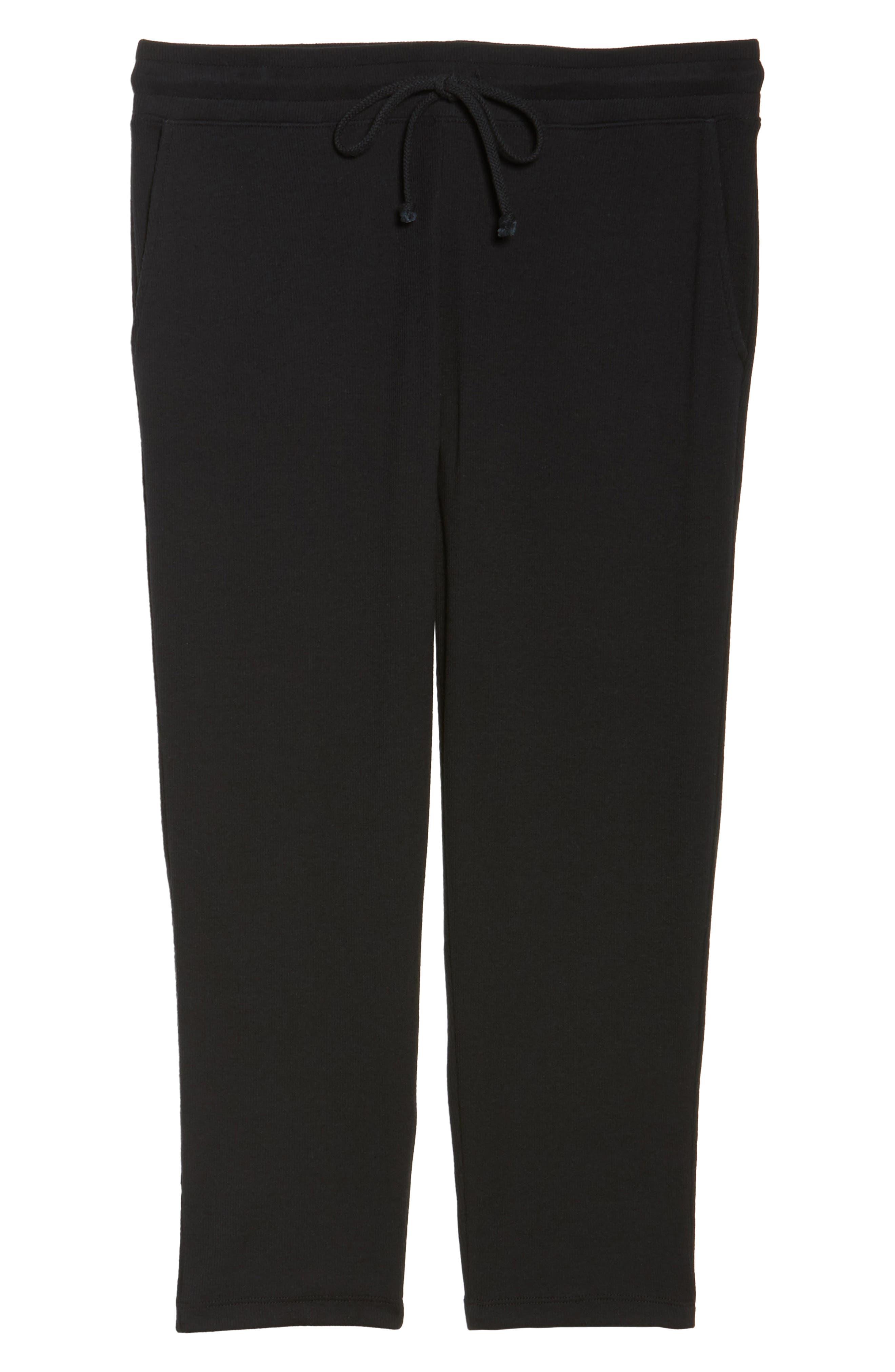 Carmin Crop Lounge Pants,                             Alternate thumbnail 6, color,                             Black