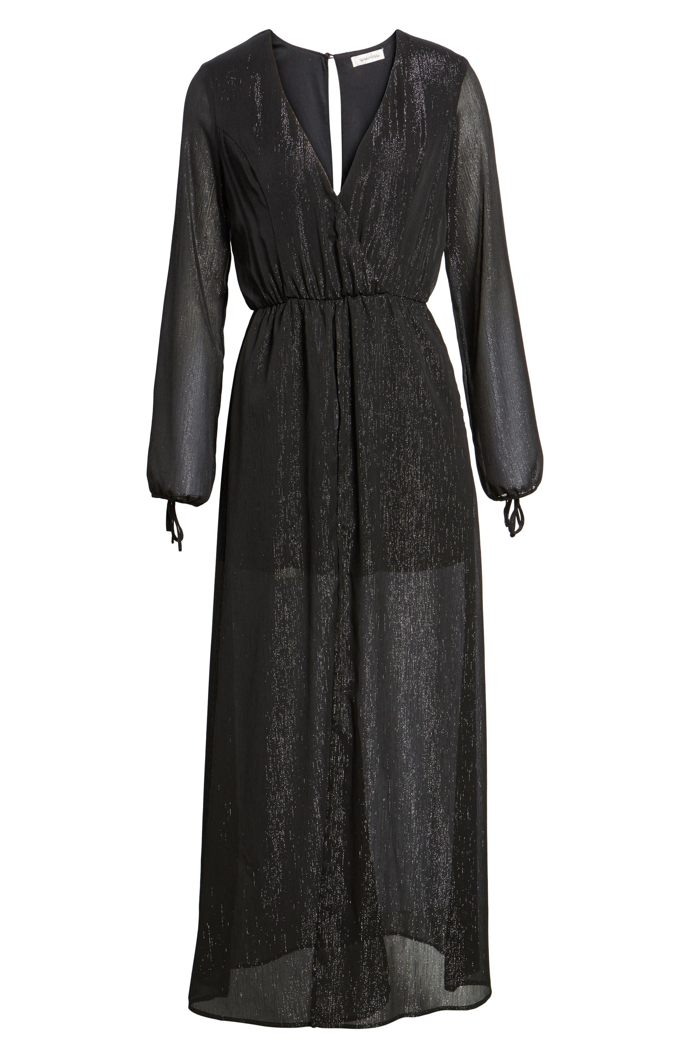 Alternate Image 6  - Speechless Metallic Surplice Dress