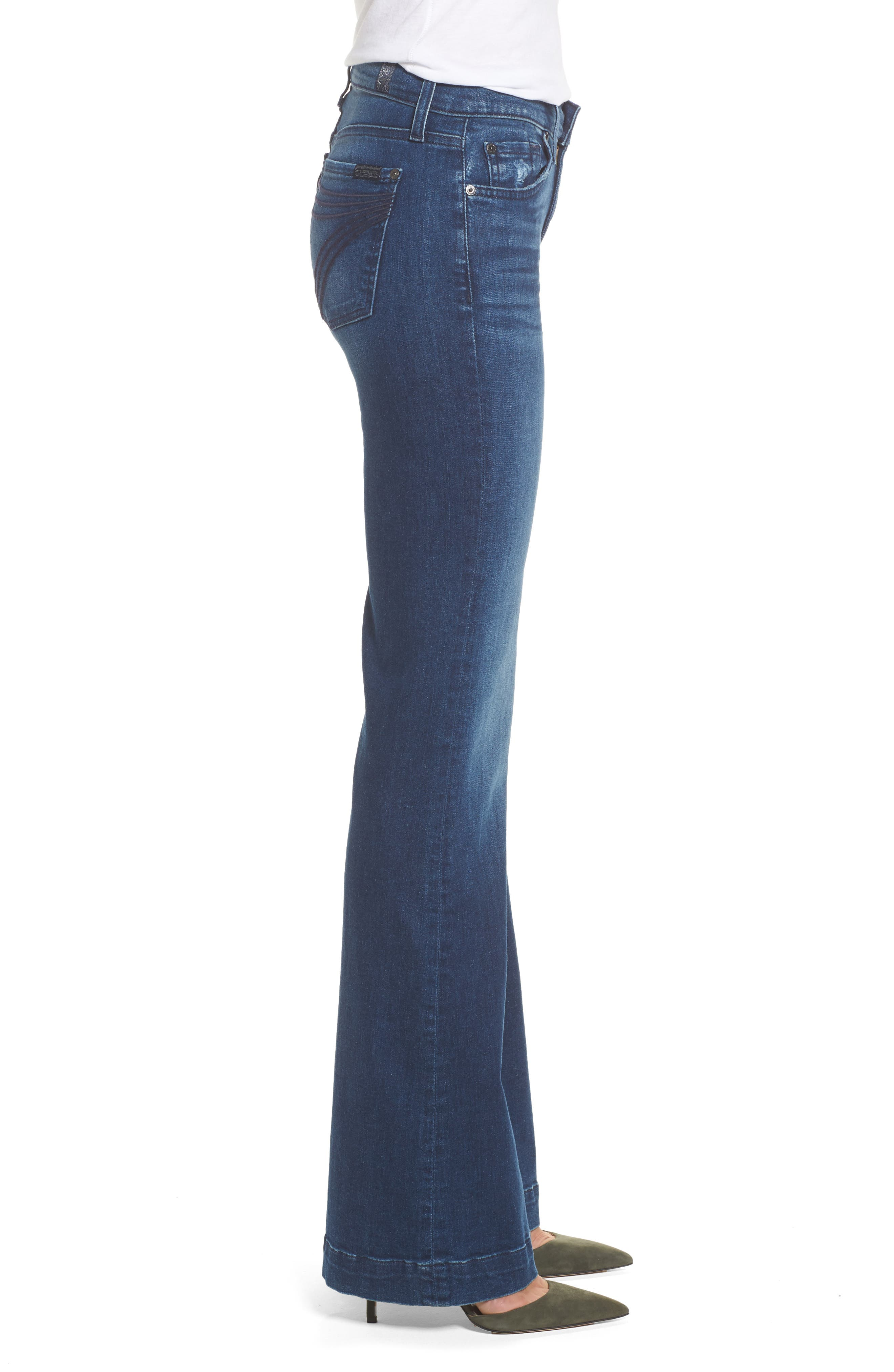 Alternate Image 3  - 7 For All Mankind® Dojo Wide Leg Jeans (Bella Heritage)