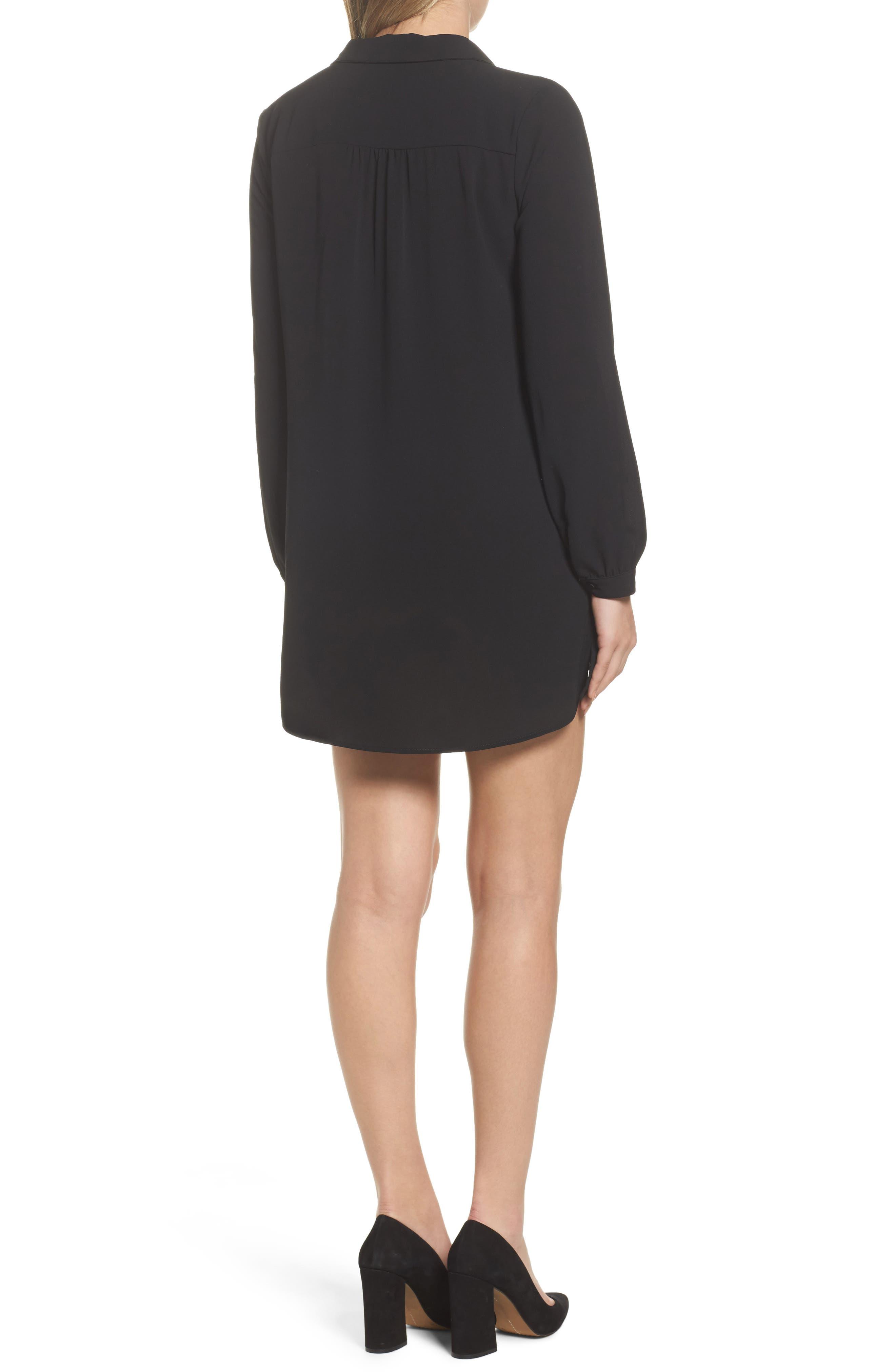 Shirtdress,                             Alternate thumbnail 2, color,                             Black