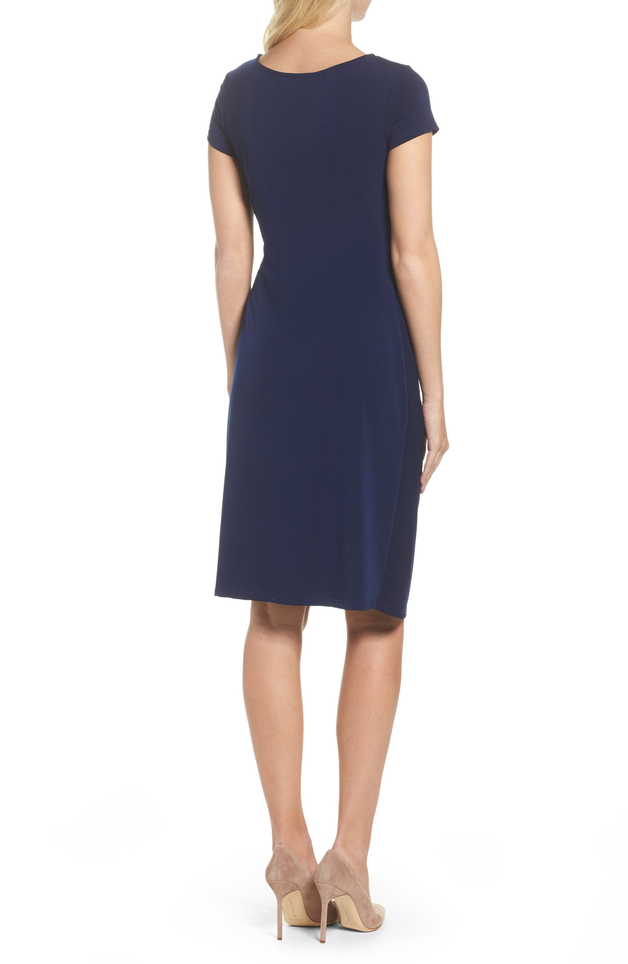 Madison Stretch Sheath Dress,                             Alternate thumbnail 2, color,                             Classic Navy