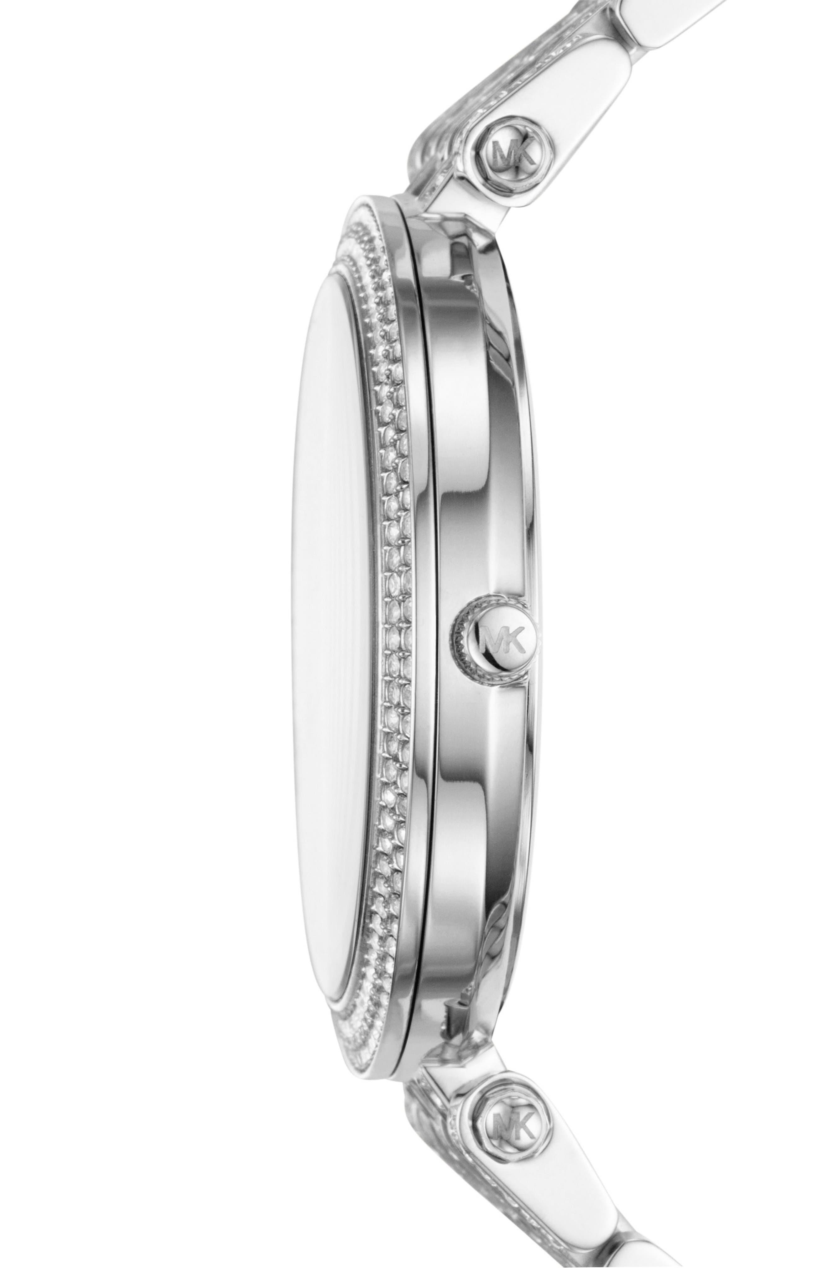 Alternate Image 2  - Michael Kors Darci Crystal Bezel Braclet Watch, 39mm