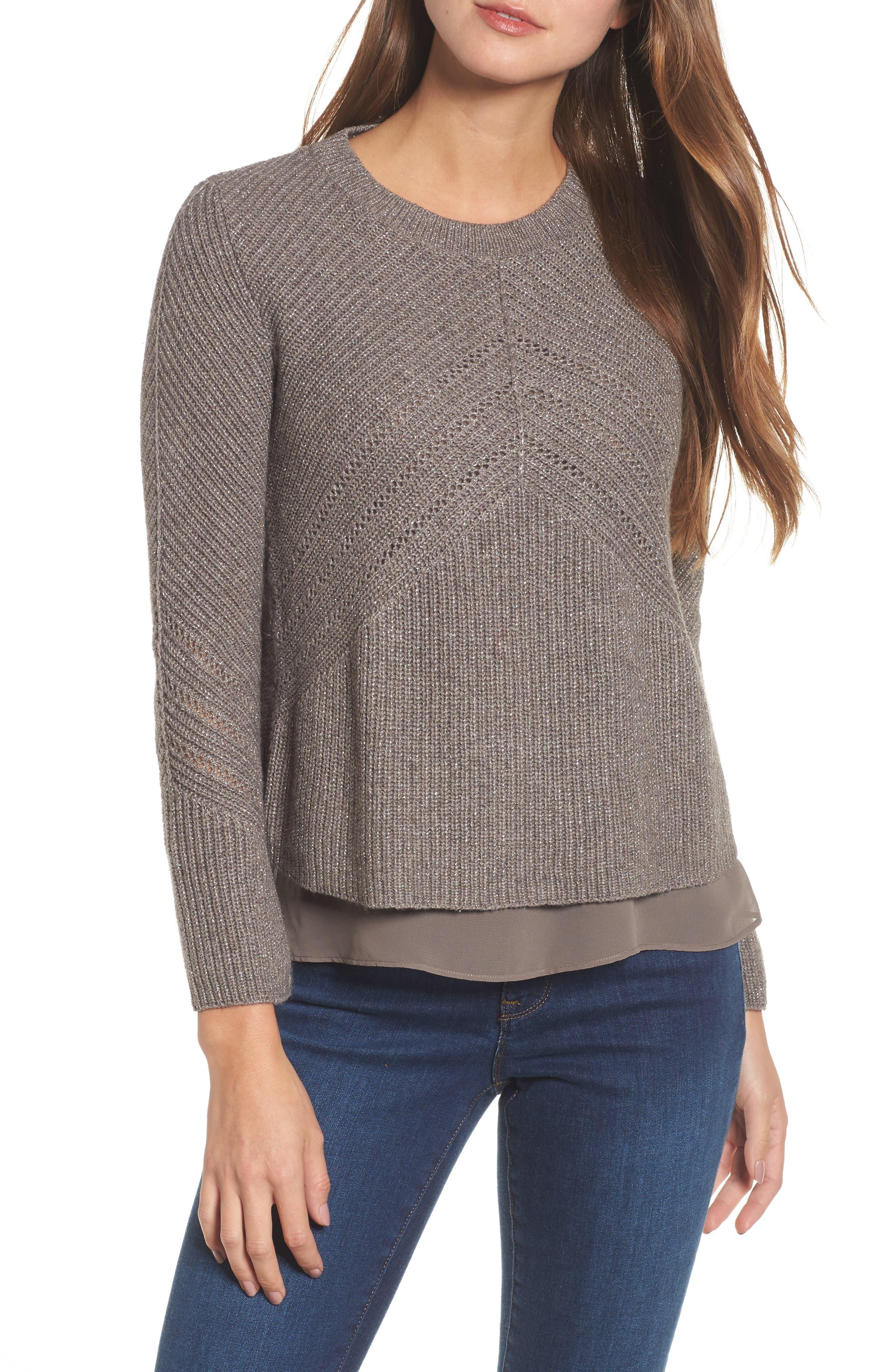 Lucky Brand Nico Layered Look Sweater