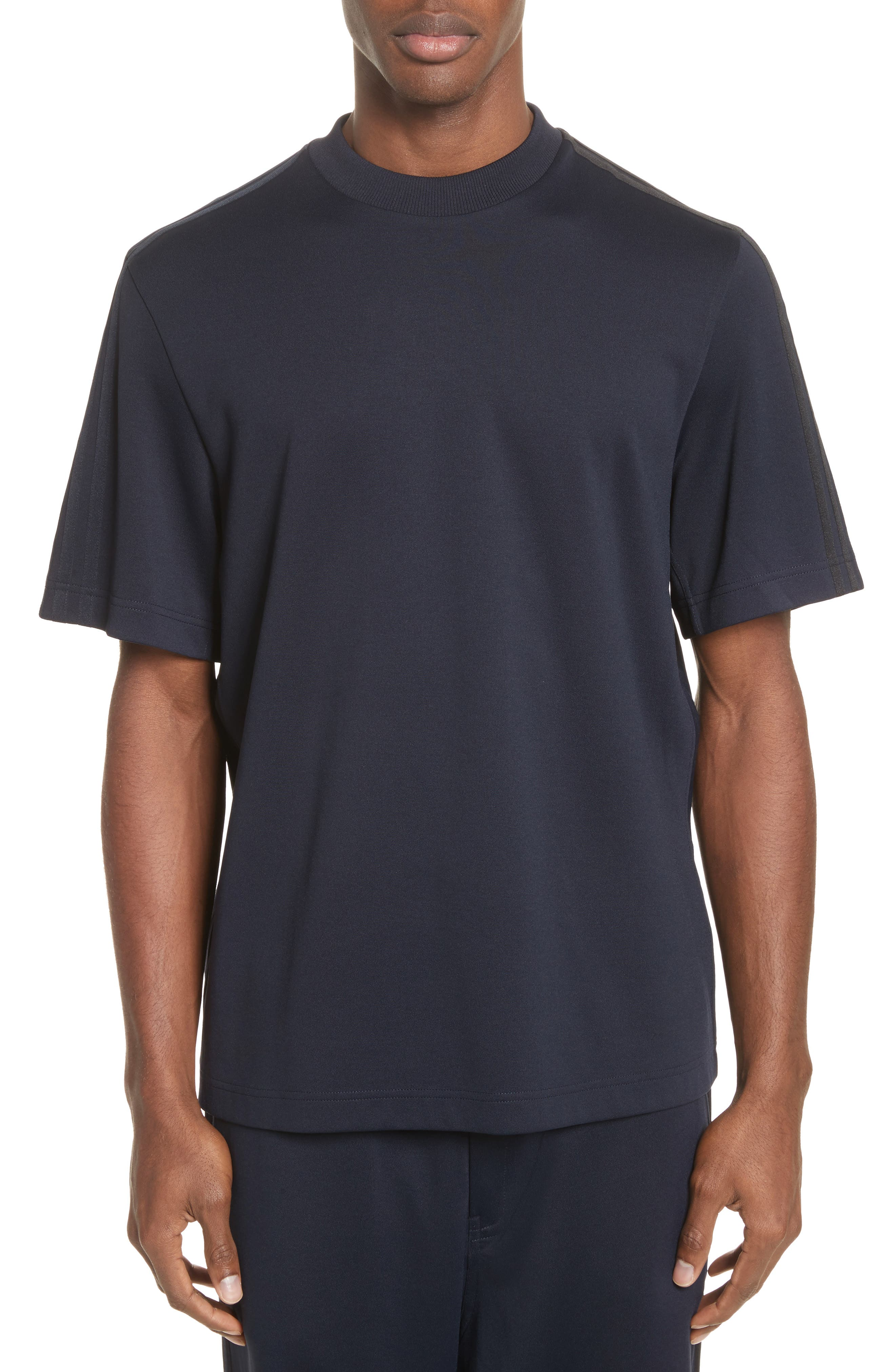 Y-3 x adidas Tonal Stripe Crewneck T-Shirt