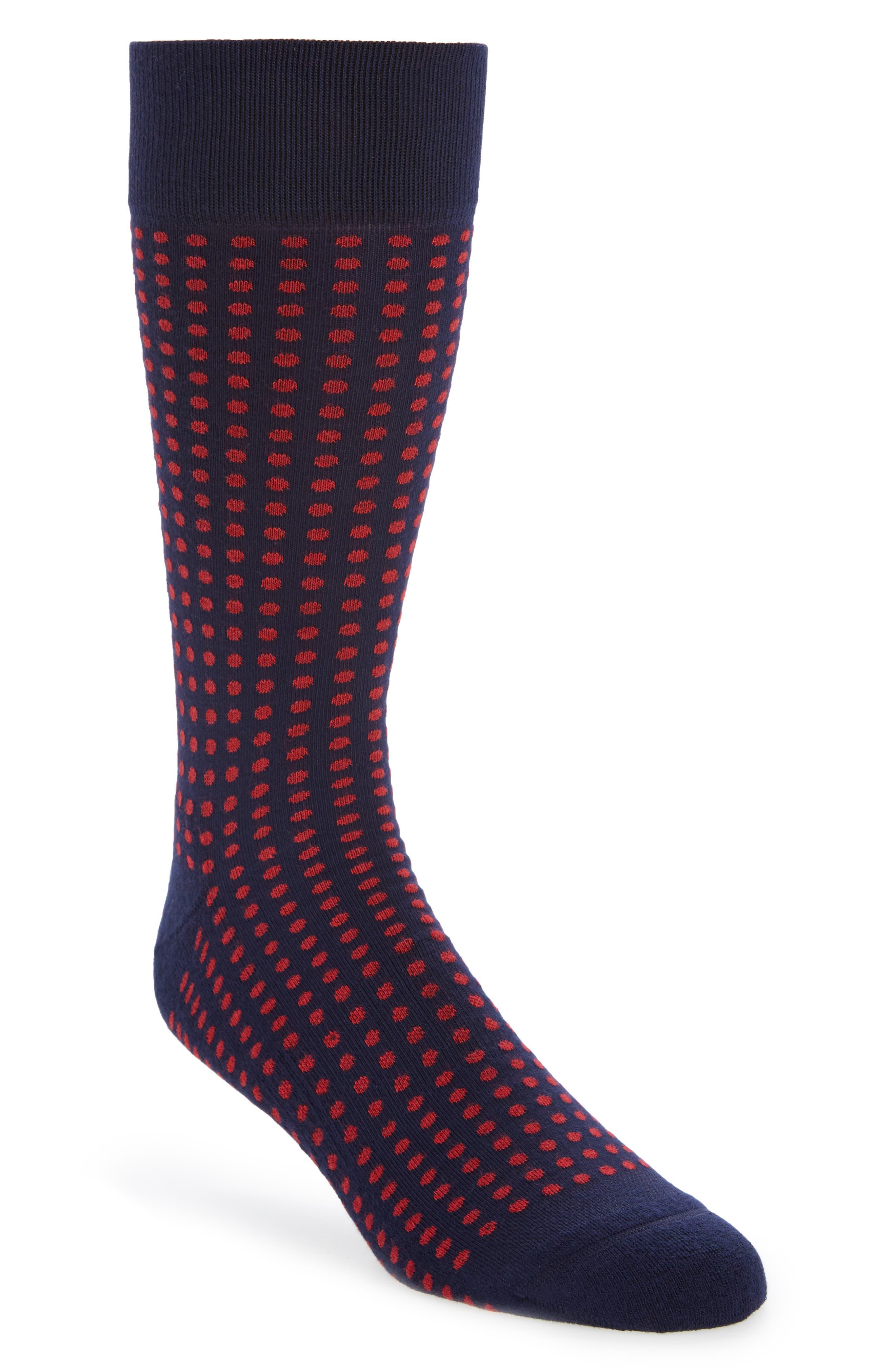 Nordstrom Men's Shop Pointed Dot Socks (3 for $30)