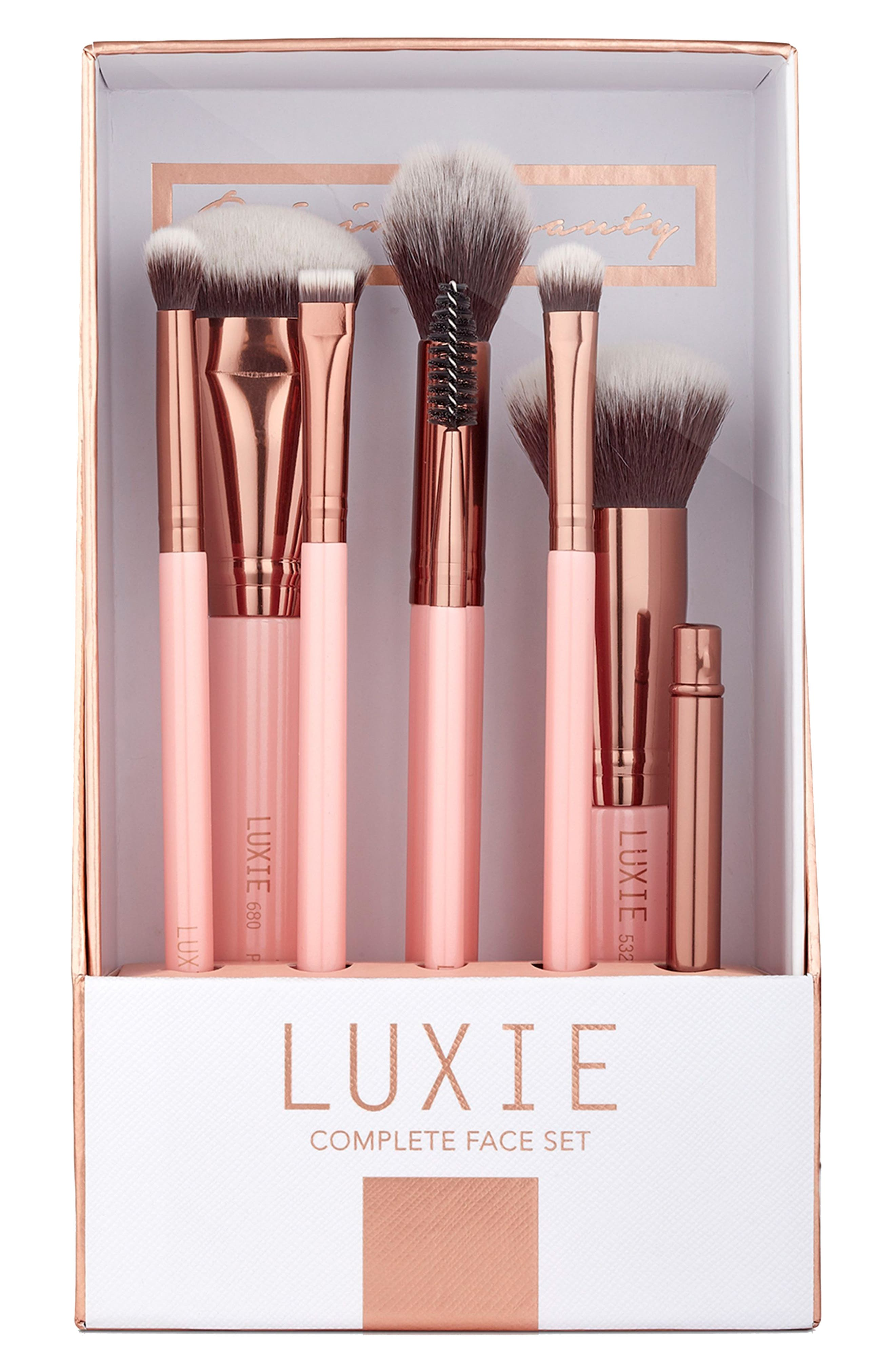 Luxie Rose Gold Complete Face Brush Set ($124 Value)