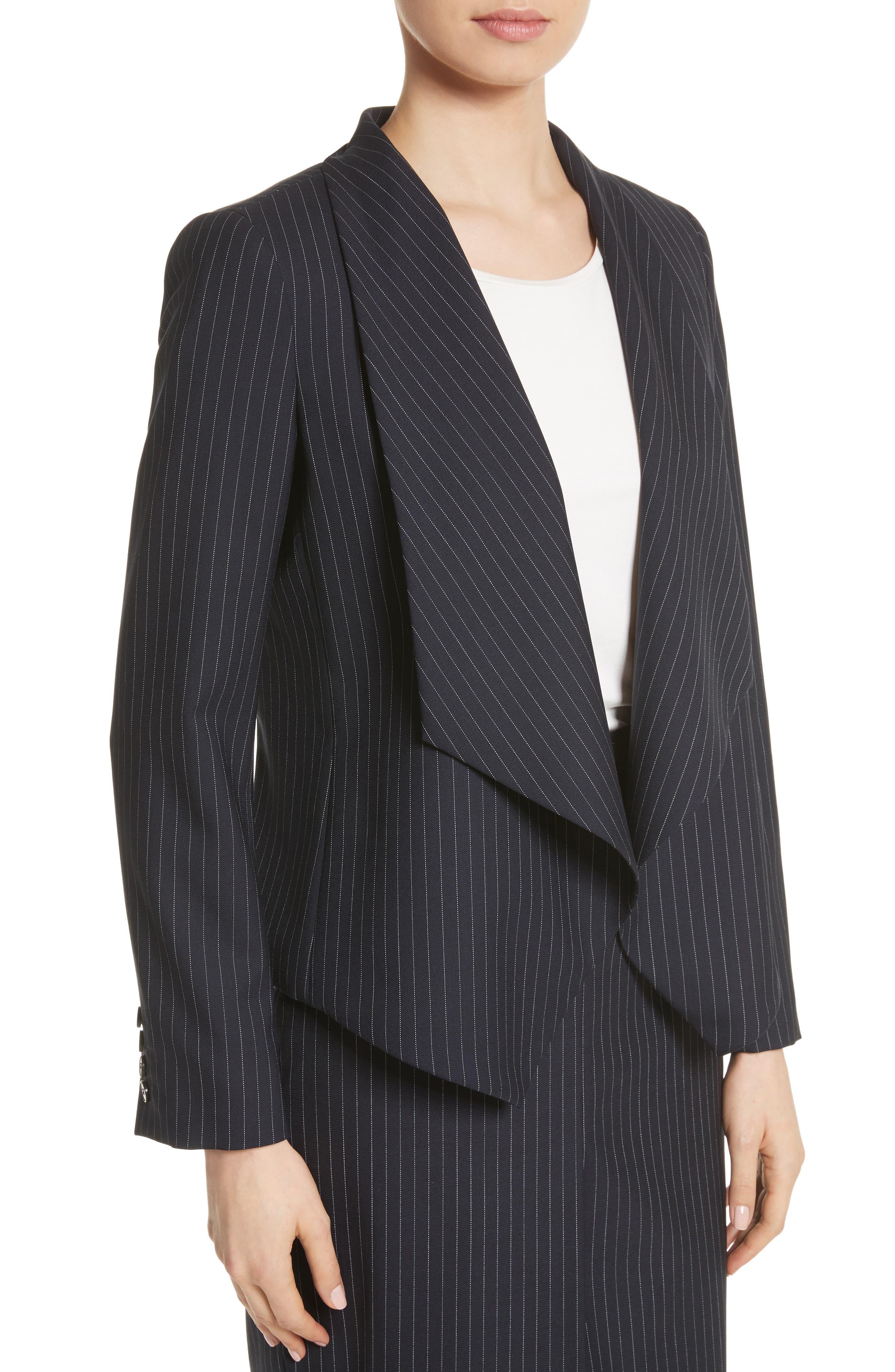 Giunto Stretch Wool Belted Blazer,                             Alternate thumbnail 3, color,                             Ultramarine