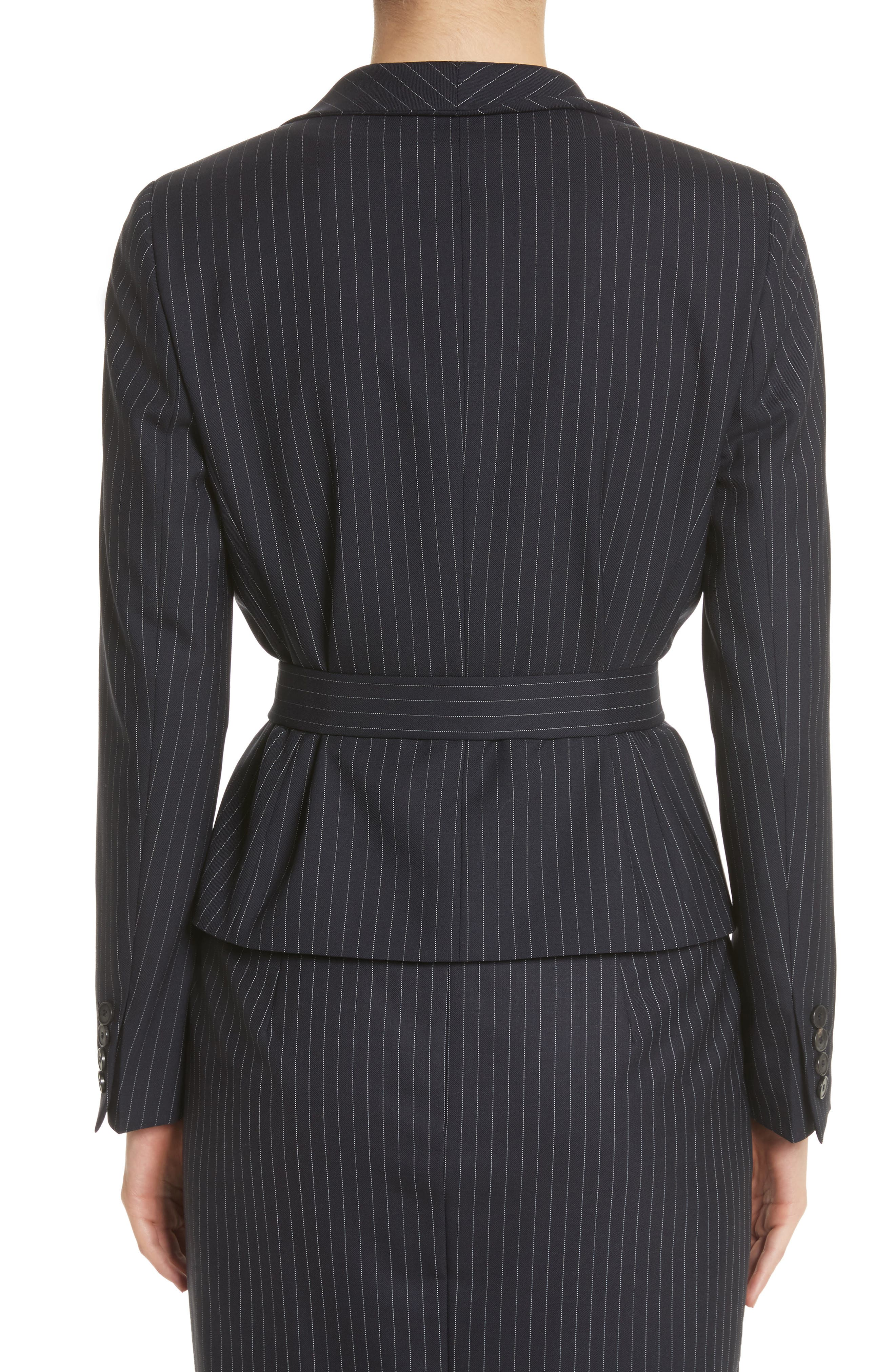 Giunto Stretch Wool Belted Blazer,                             Alternate thumbnail 2, color,                             Ultramarine