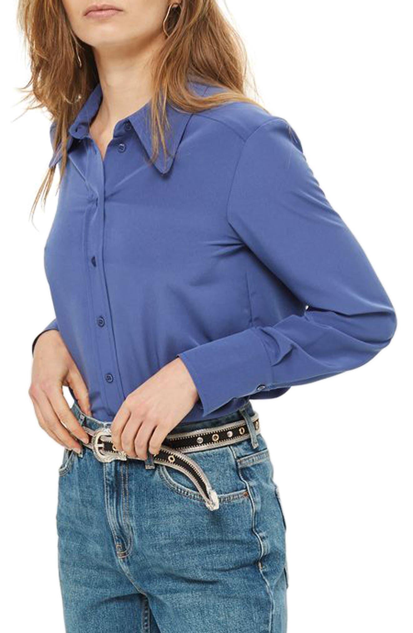 Crop Mom Jeans,                         Main,                         color, Blue