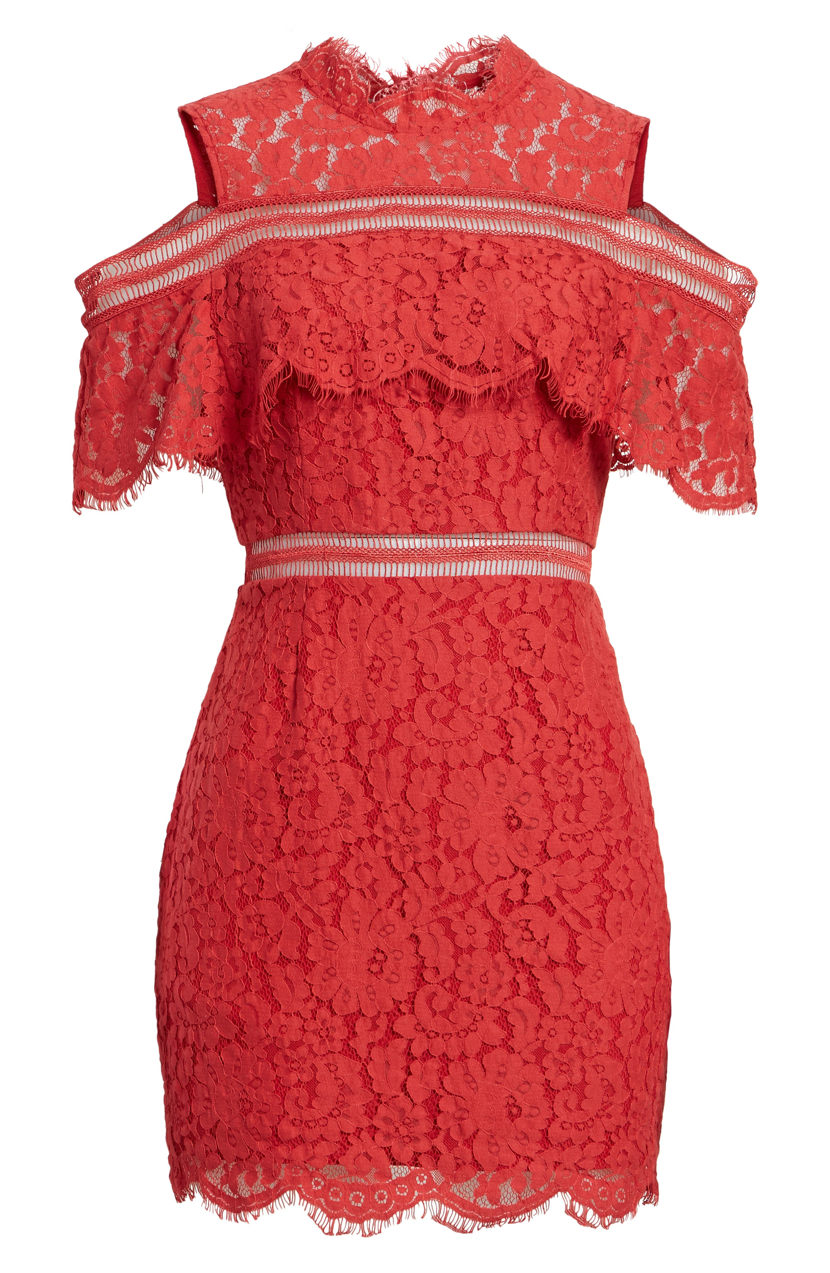 Alternate Image 6  - Keepsake the Label Butterfly Lace Cold Shoulder Dress