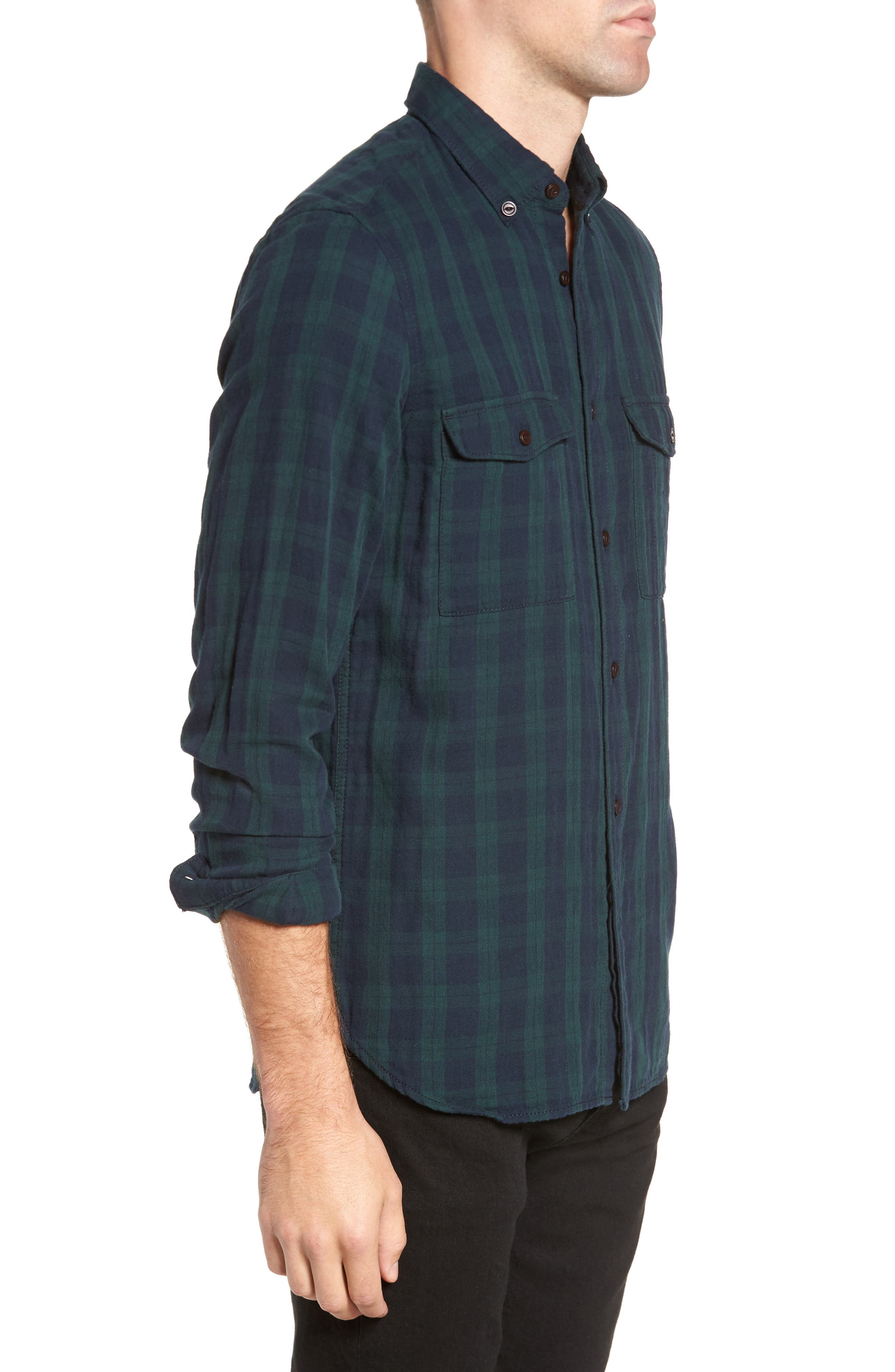 Alternate Image 3  - French Connection Black Watch Double Check Sport Shirt