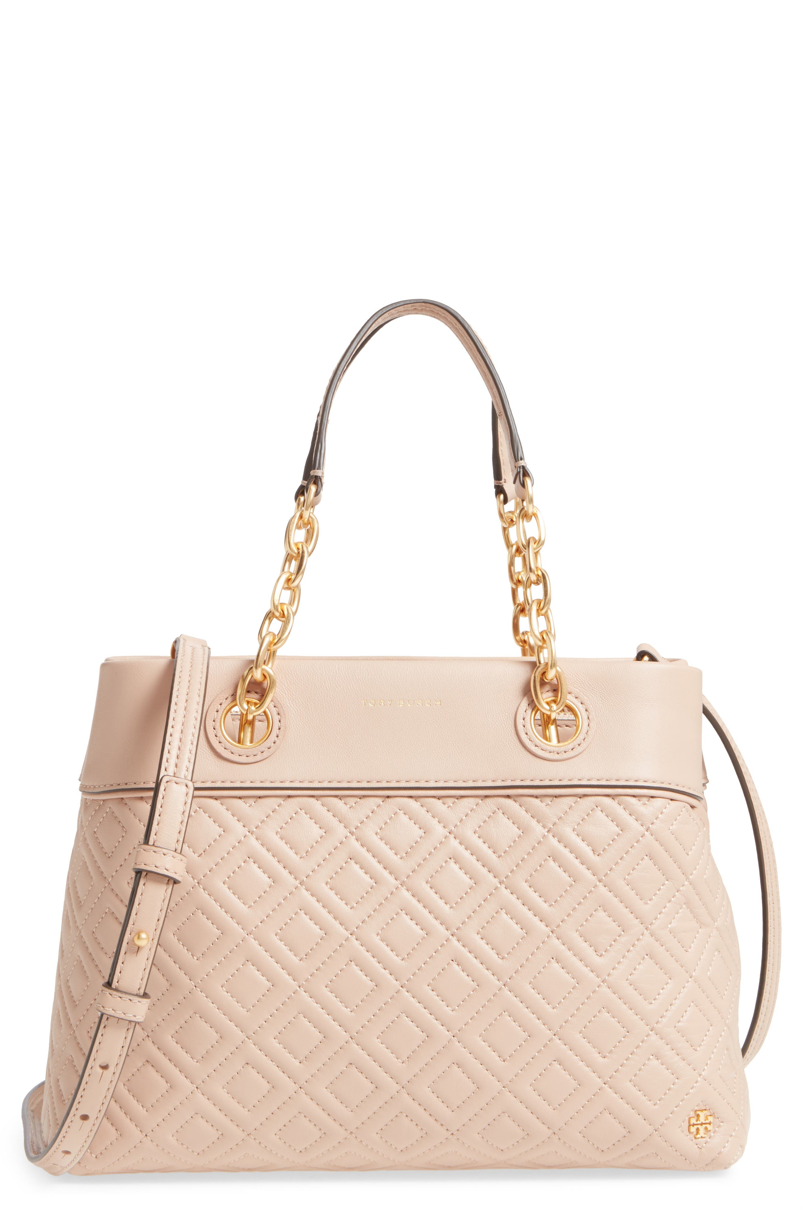 Main Image - Tory Burch Small Fleming Leather Tote
