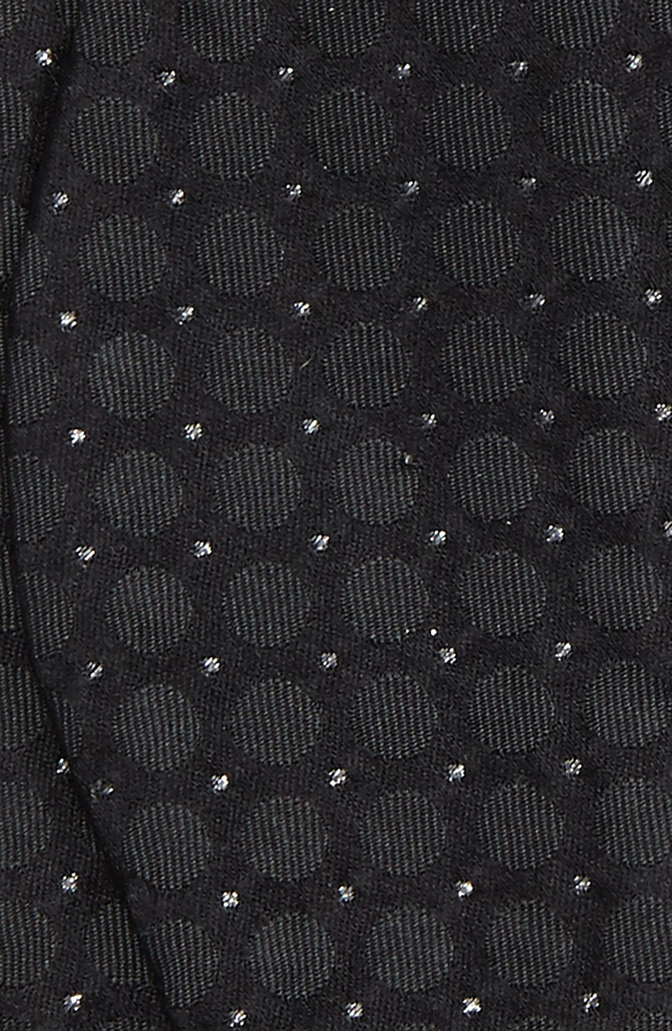 Black Shimmer Bow Tie,                             Alternate thumbnail 3, color,                             Black