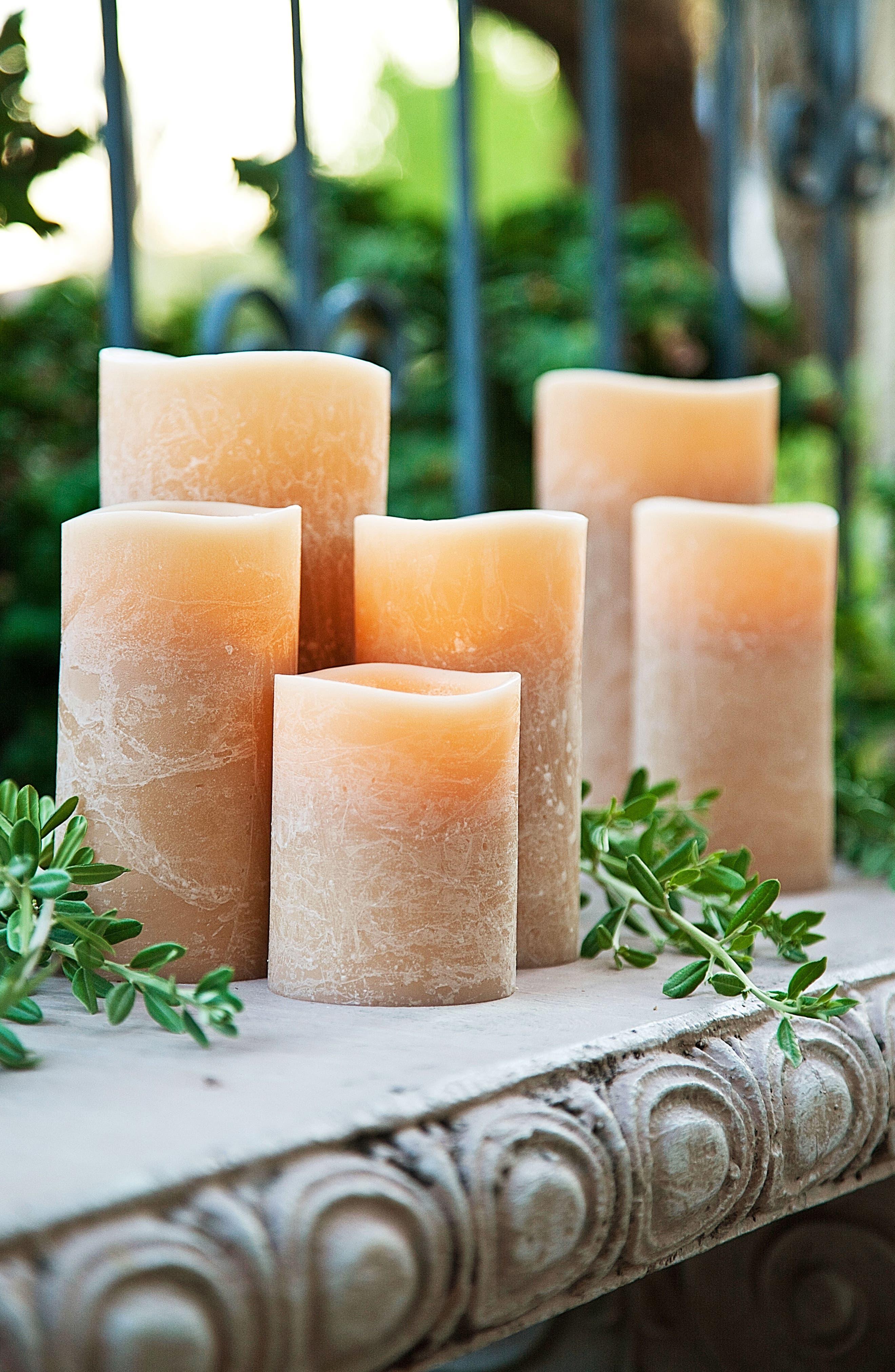 Honey Artisan Flameless Candle,                             Alternate thumbnail 2, color,                             Honey