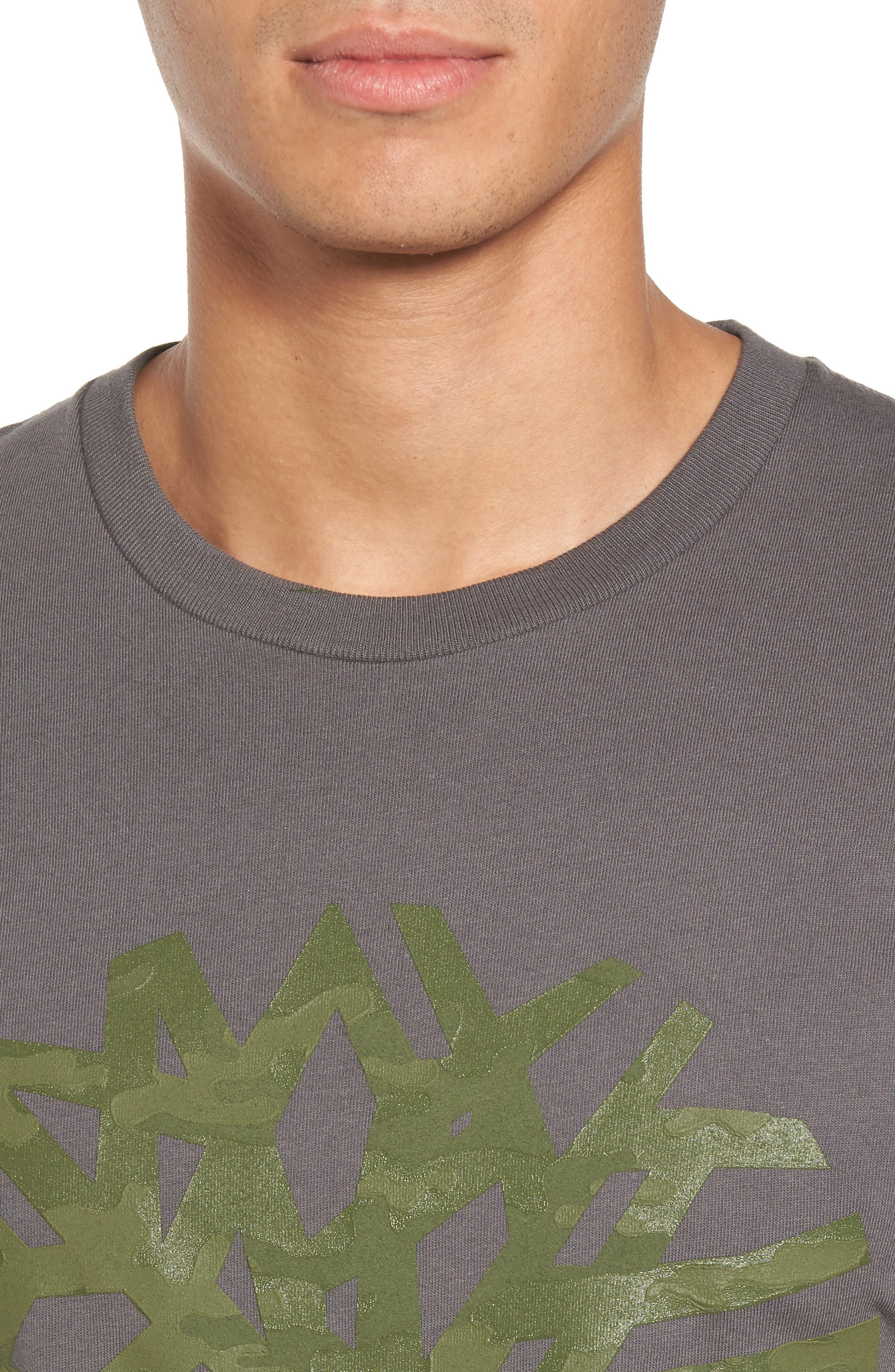 Textured Camo Graphic T-Shirt,                             Alternate thumbnail 4, color,                             Grey