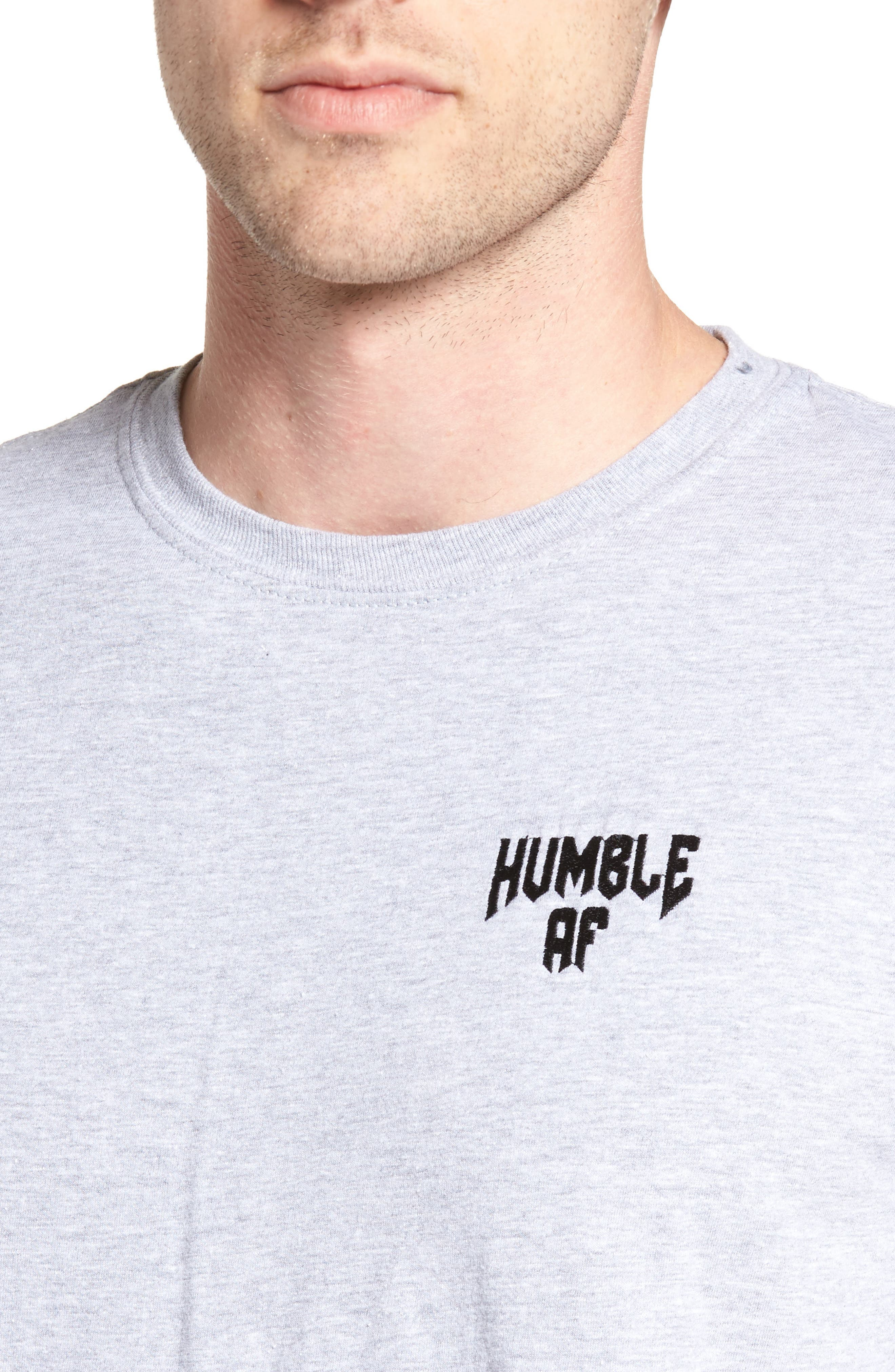 Humble AF T-Shirt,                             Alternate thumbnail 4, color,                             Grey Heather Humble