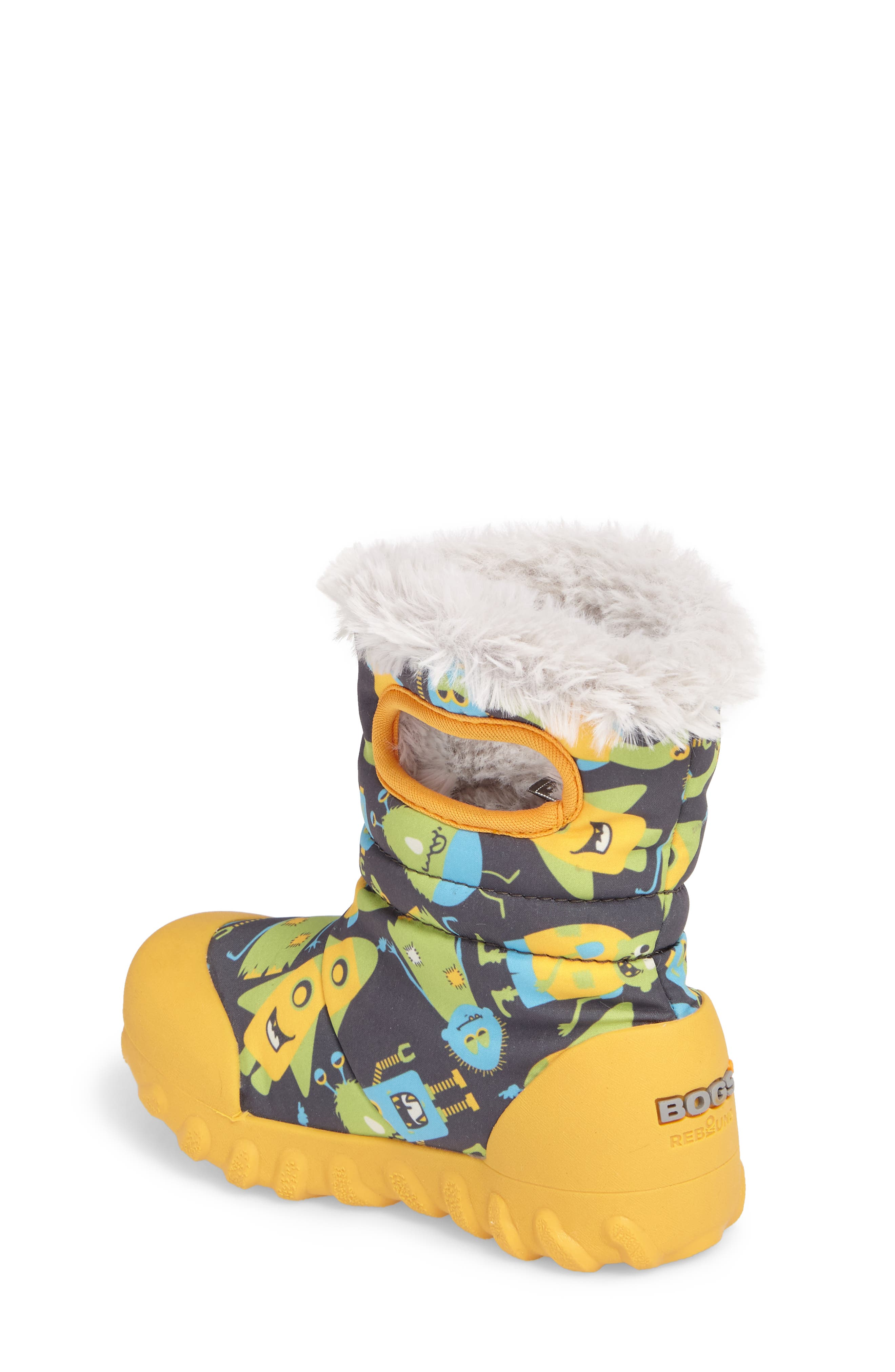 B-MOC Monsters Waterproof Insulated Faux Fur Winter Boot,                             Alternate thumbnail 2, color,                             Dark Gray Multi