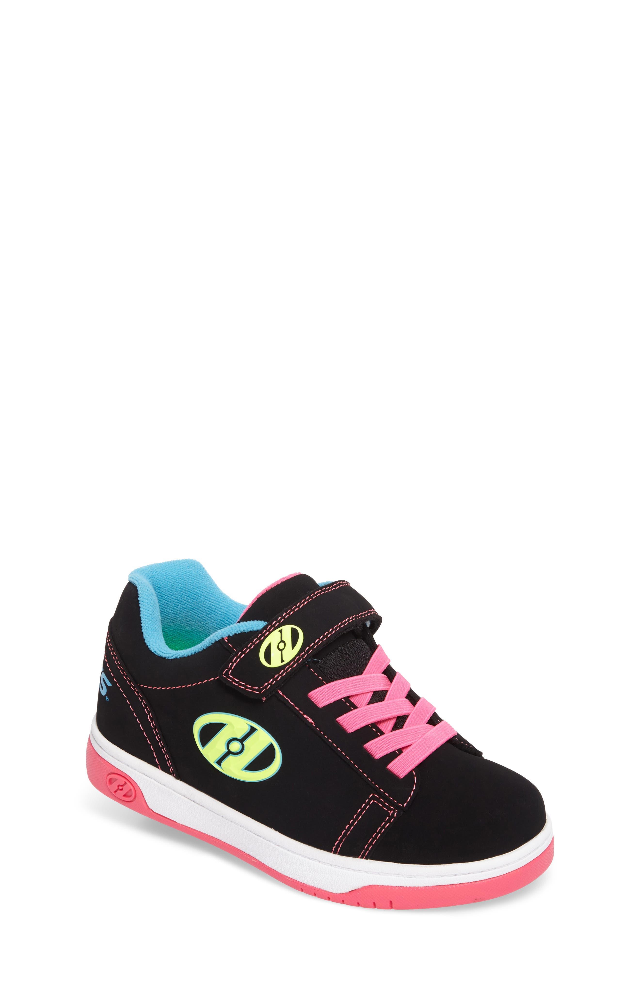 Dual Up Wheeled Skate Sneaker,                             Main thumbnail 1, color,                             Black/ Neon Multi