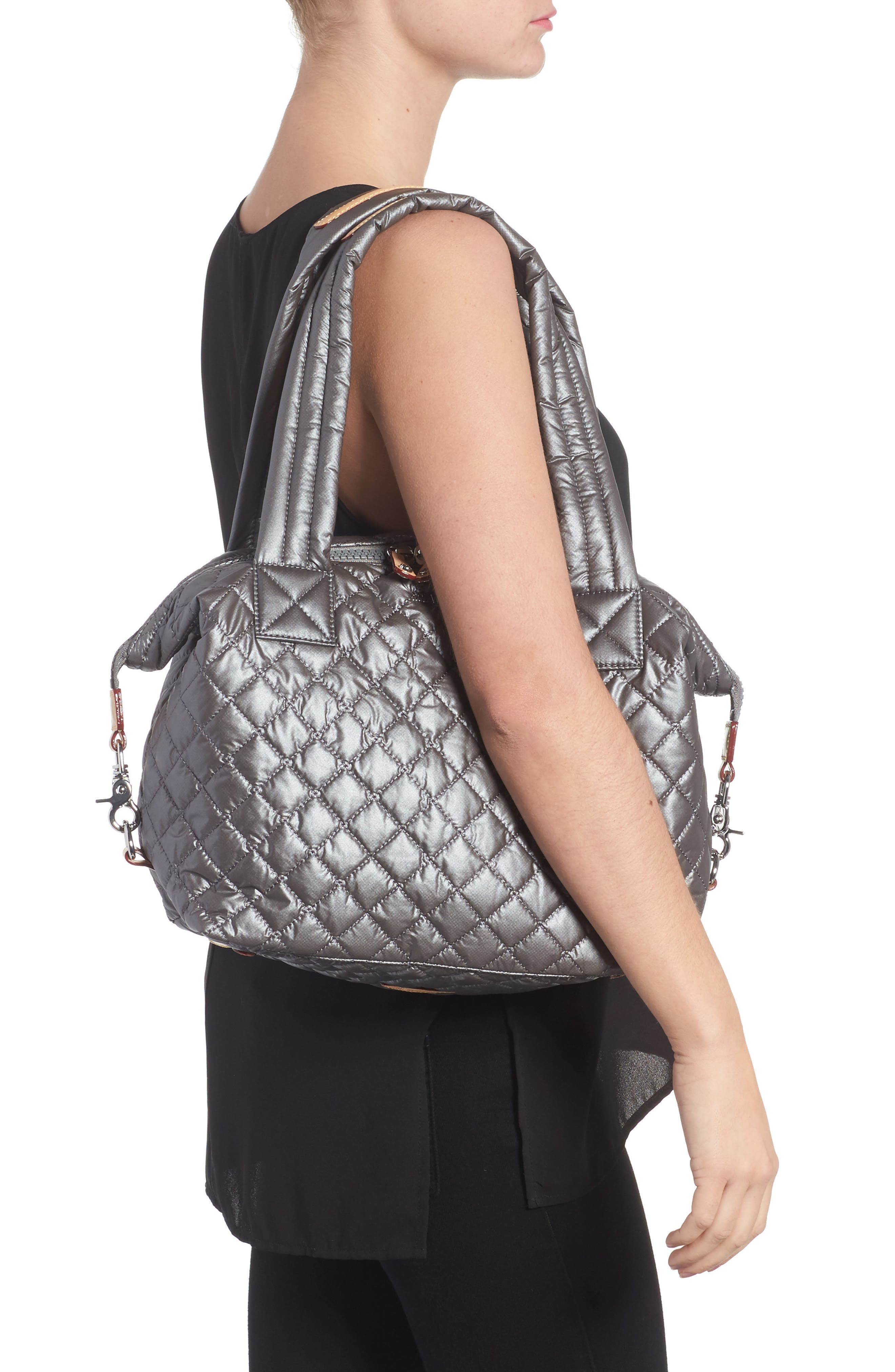 Alternate Image 2  - MZ Wallace 'Medium Sutton' Quilted Oxford Nylon Shoulder Tote