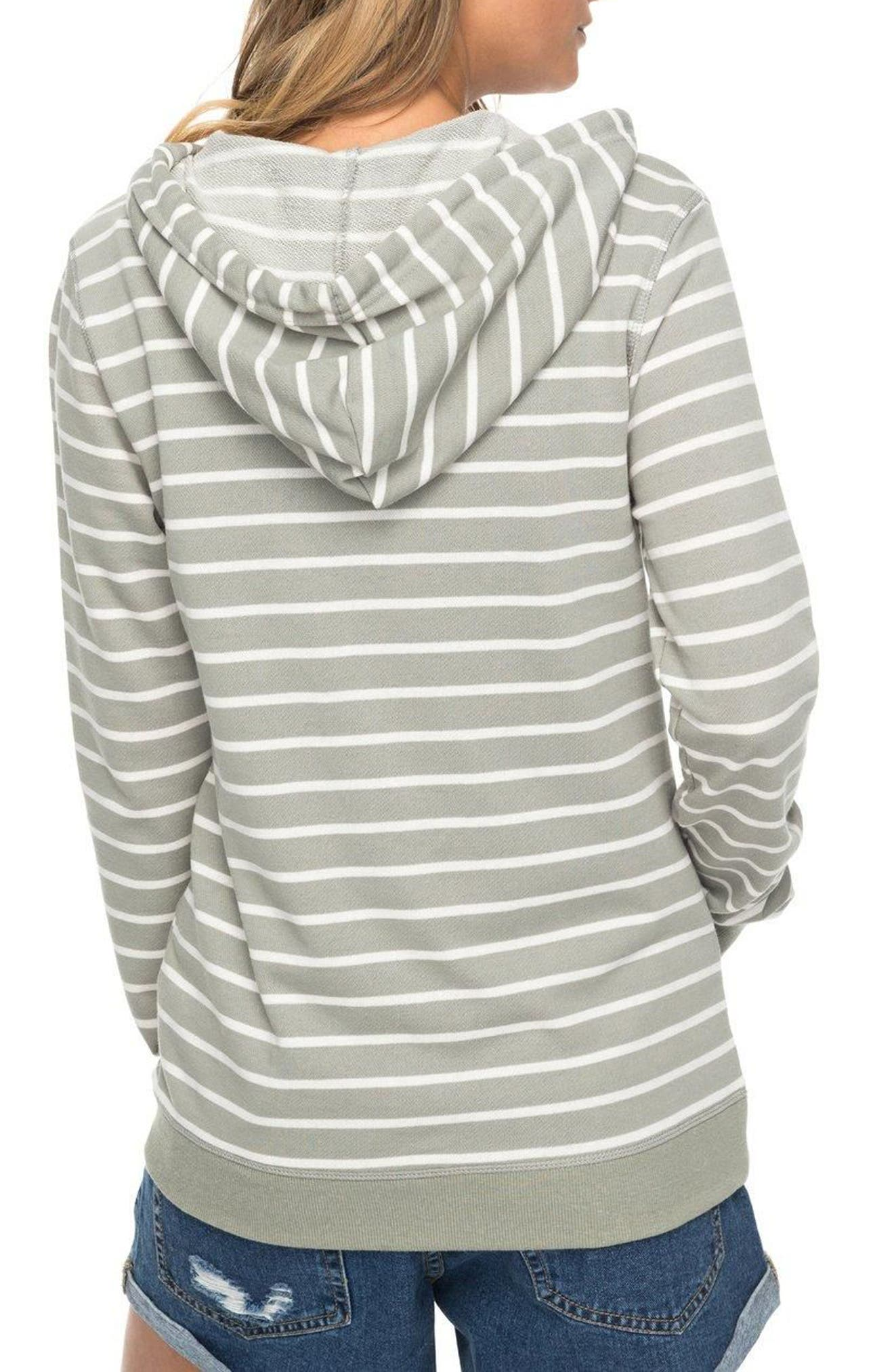 Alternate Image 2  - Roxy Trippin Stripe Hoodie