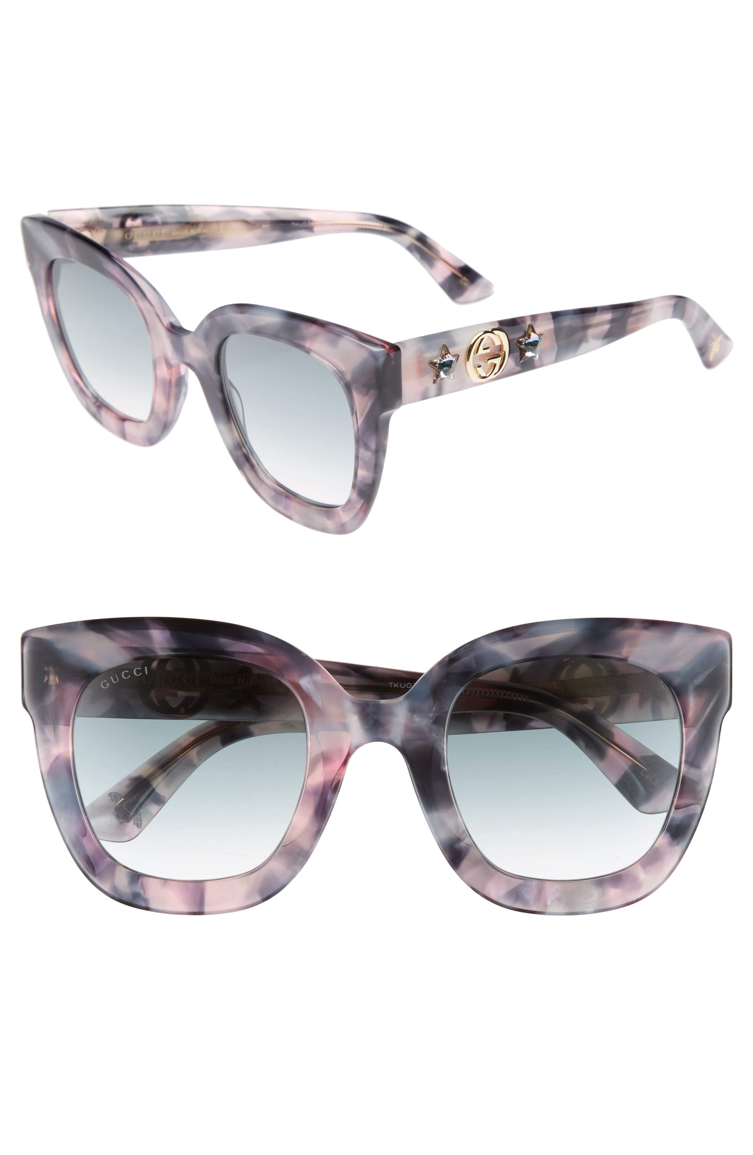 49mm Cat Eye Sunglasses,                         Main,                         color, Havana